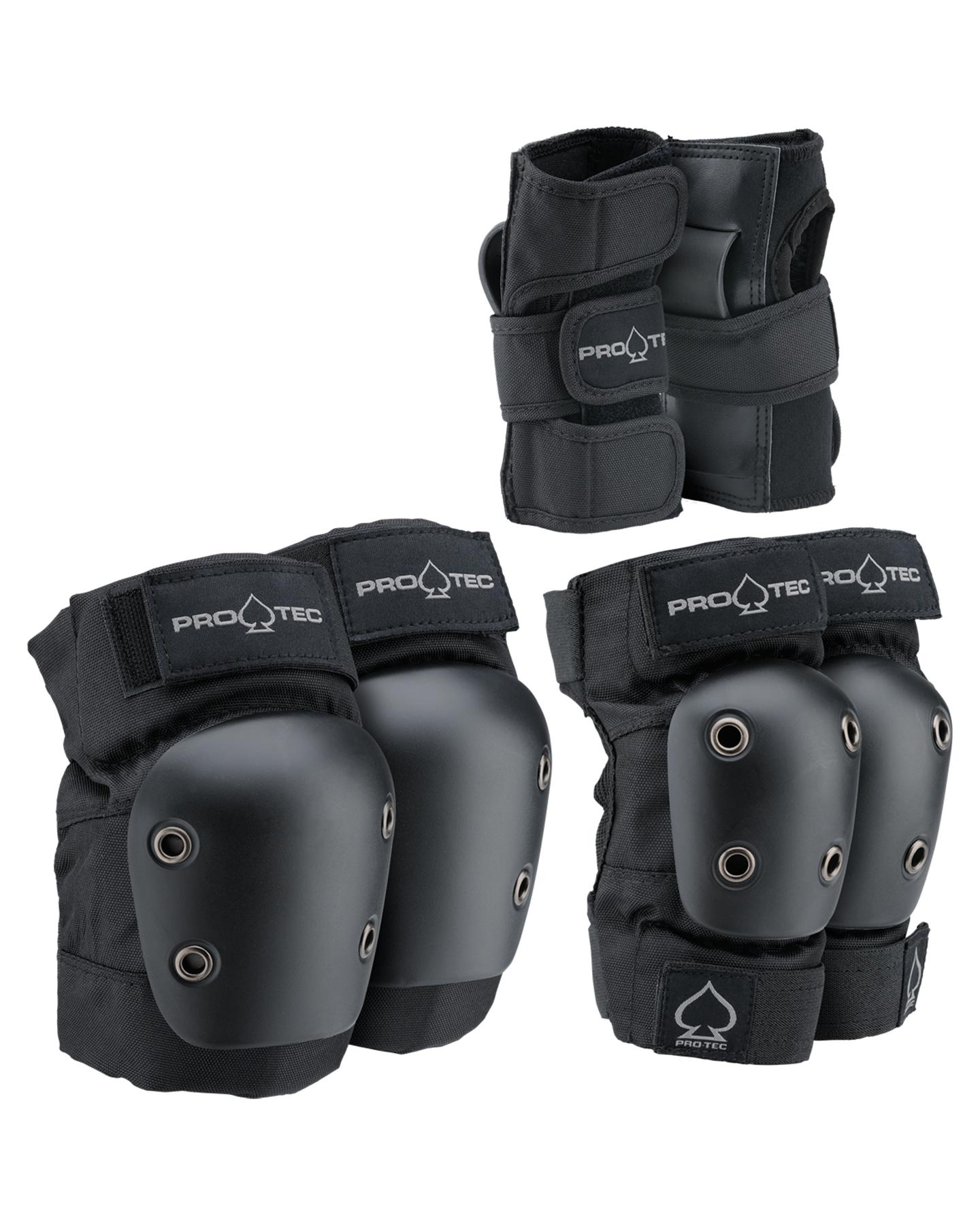 Protec Street Gear 3Pk Jnr Pads Black