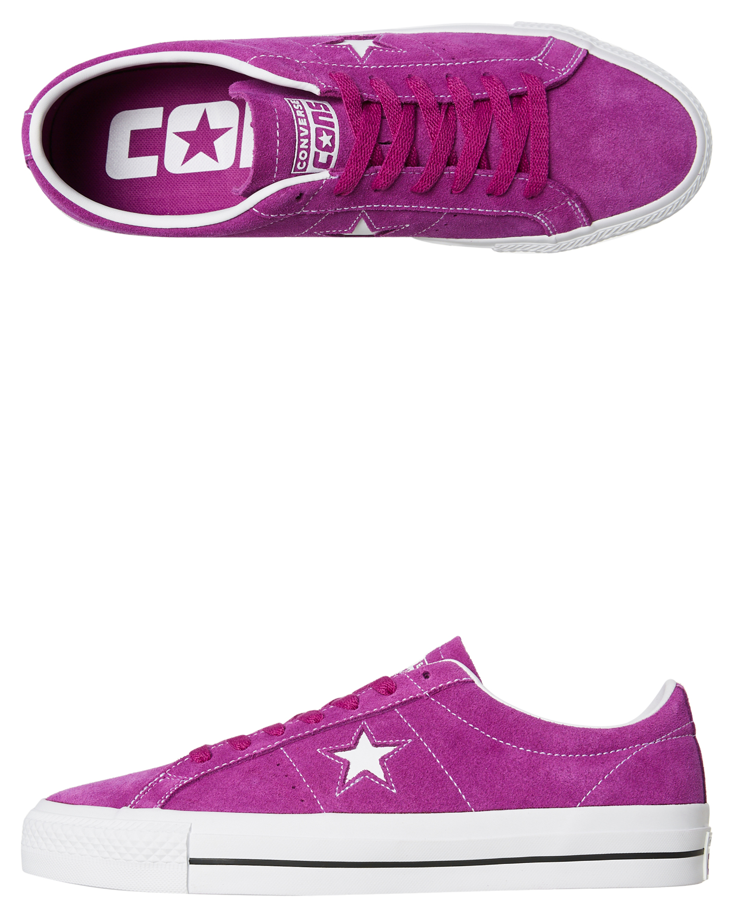 fa604bf0833b Converse Mens One Star Pro Suede Shoe Icon Violet Icon Violet Shoes ...