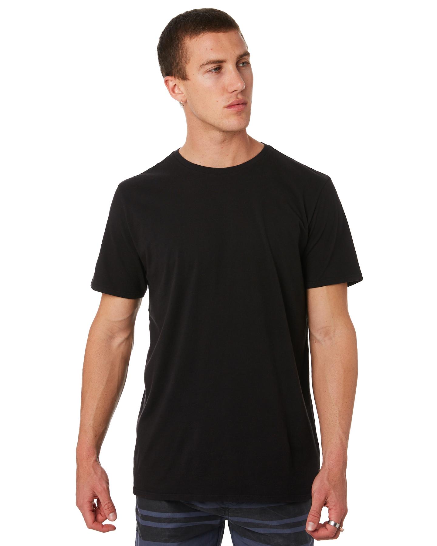New-Swell-Men-039-s-Basic-Mens-Tee-Cotton-White