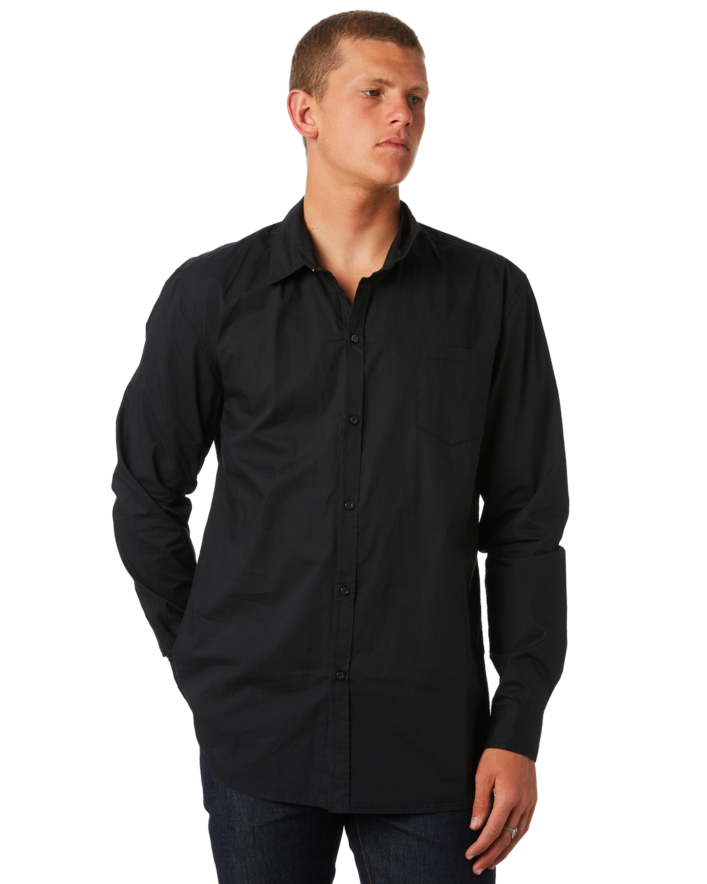 Swell Ls Mens Shirt Black