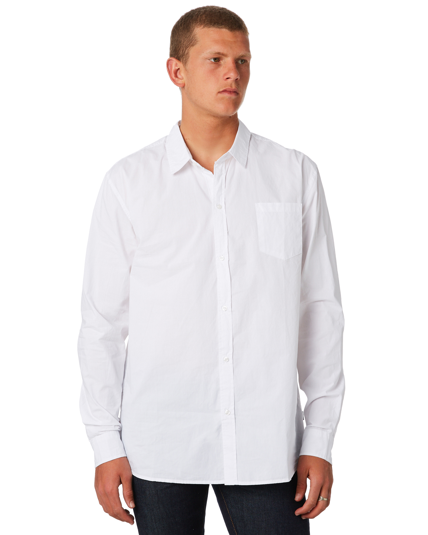 Swell Ls Mens Shirt White