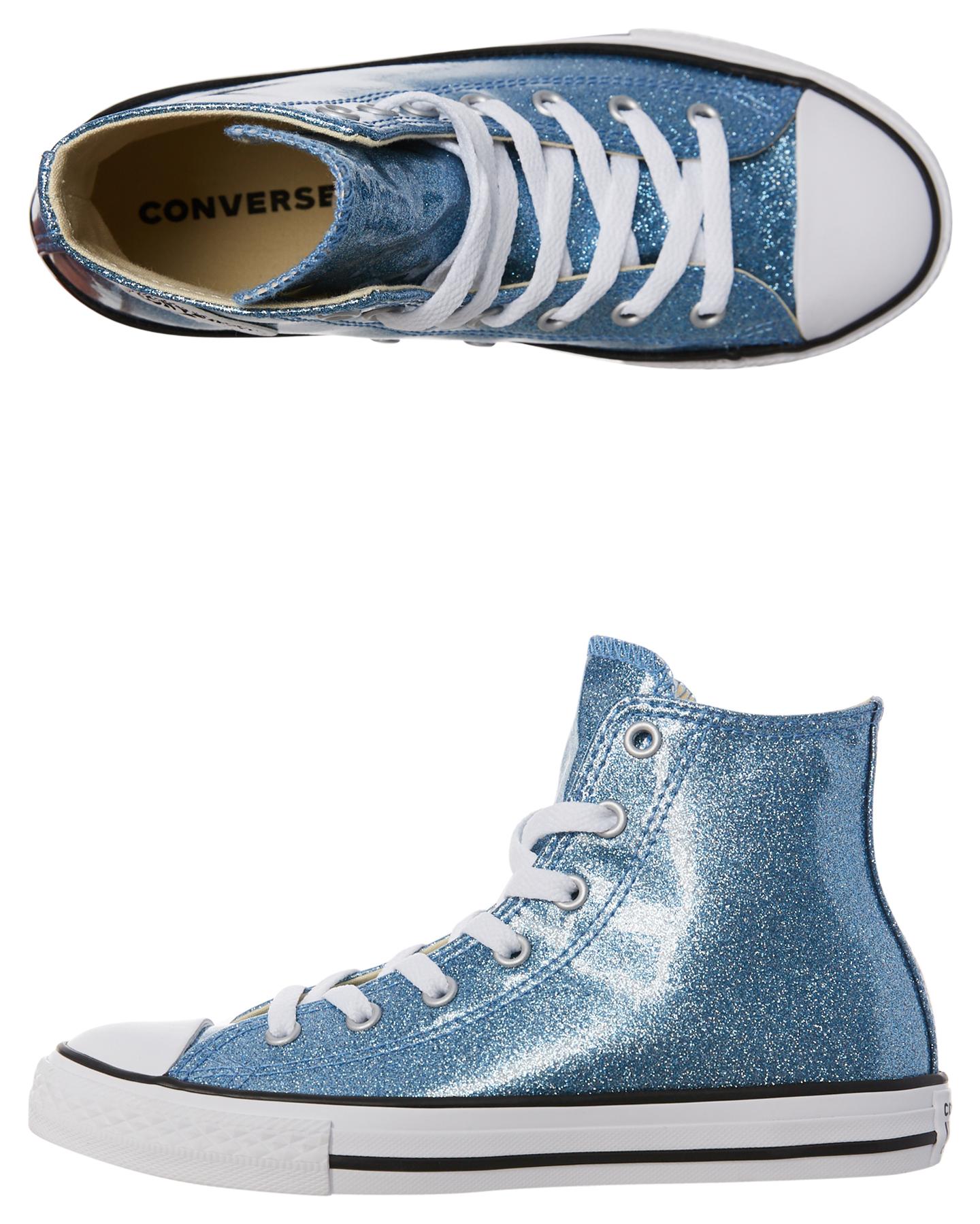 Converse Chuck Taylor All Star Hi Glitter Shoe Light Blue