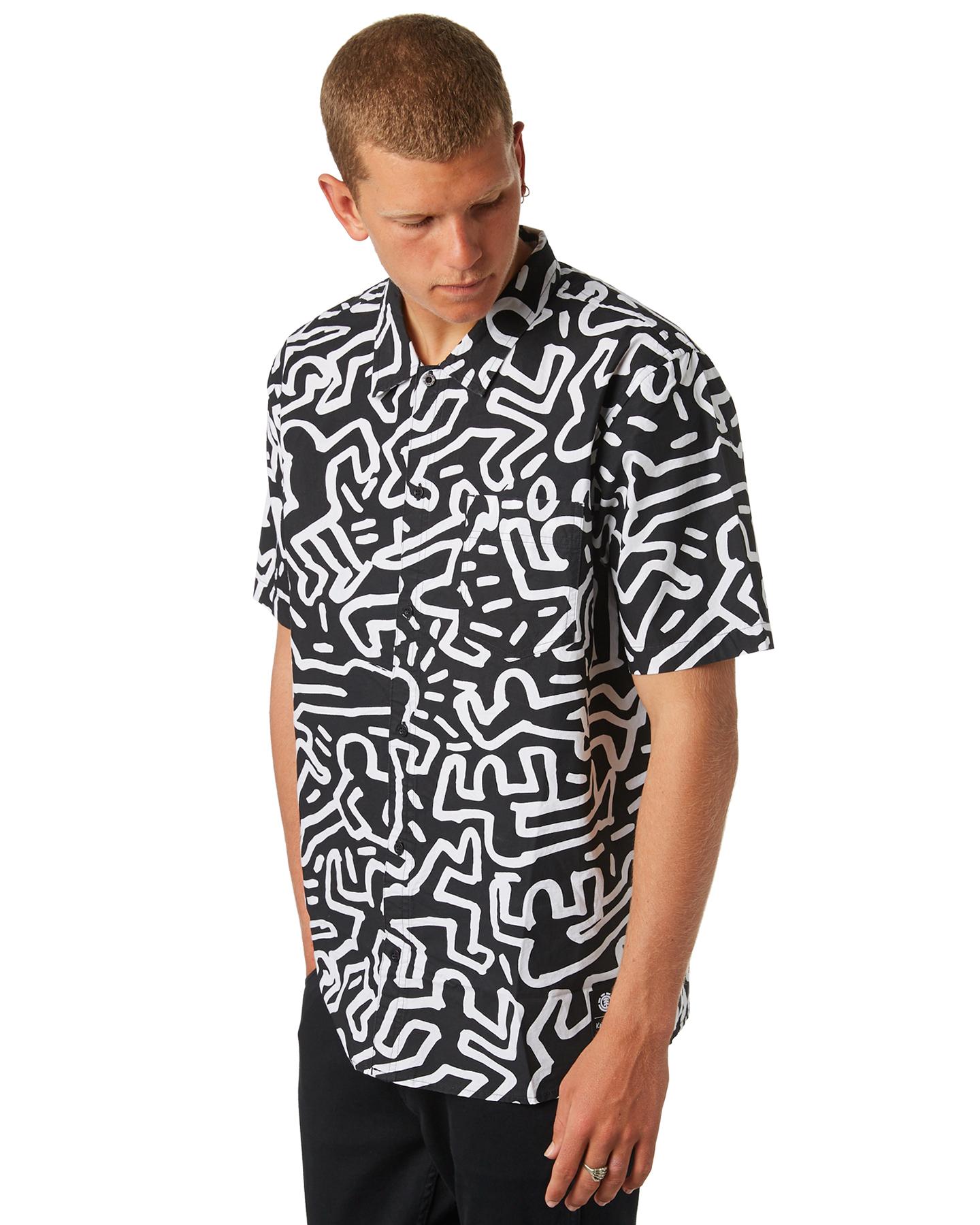 84f17b4b4 New Element Men's Keith Haring Ss Mens Shirt Short Sleeve Cotton ...