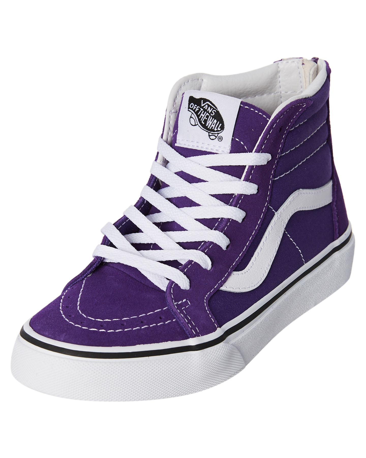 db152f91ecf2 New Vans Girls Sk8 Hip Zip Girls Shoe Rubber Purple