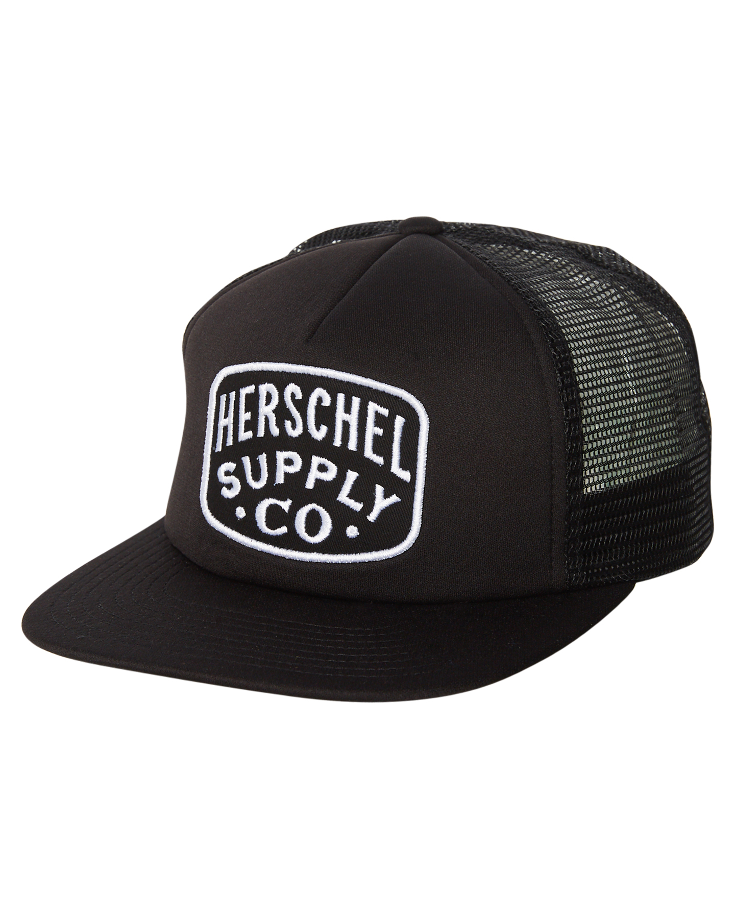 Details about New Herschel Supply Co Men s Whaler Mesh Patch Trucker Cap  Mesh Black d658c9312f14