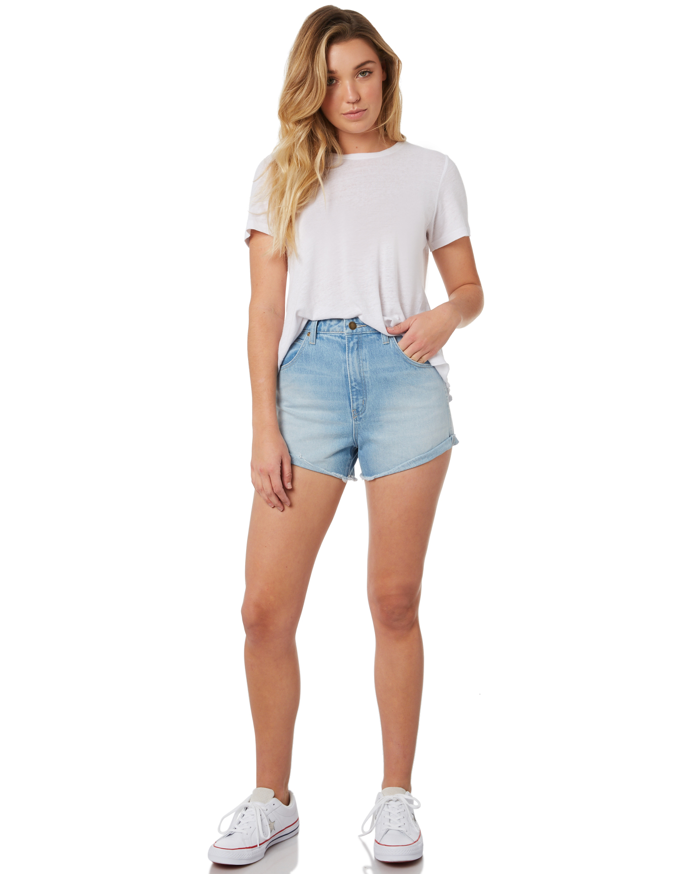 833aabe9961 Details about New Rollas Women's Dusters Womens Shorts Cotton Fitted Blue