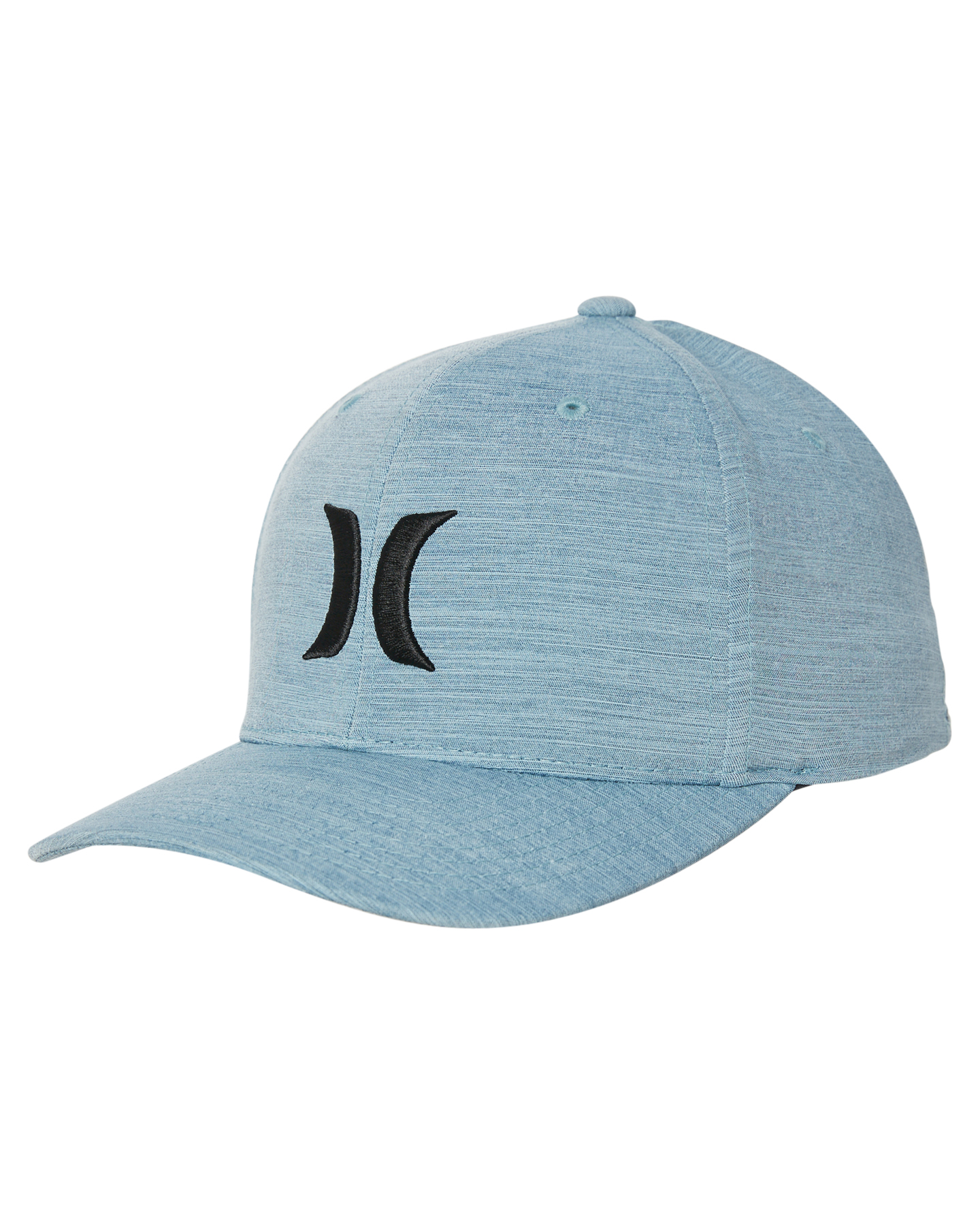 New Hurley Men s Dri Fit Cutback Fitted Cap Fitted Spandex Grey  9c1e2708ff94