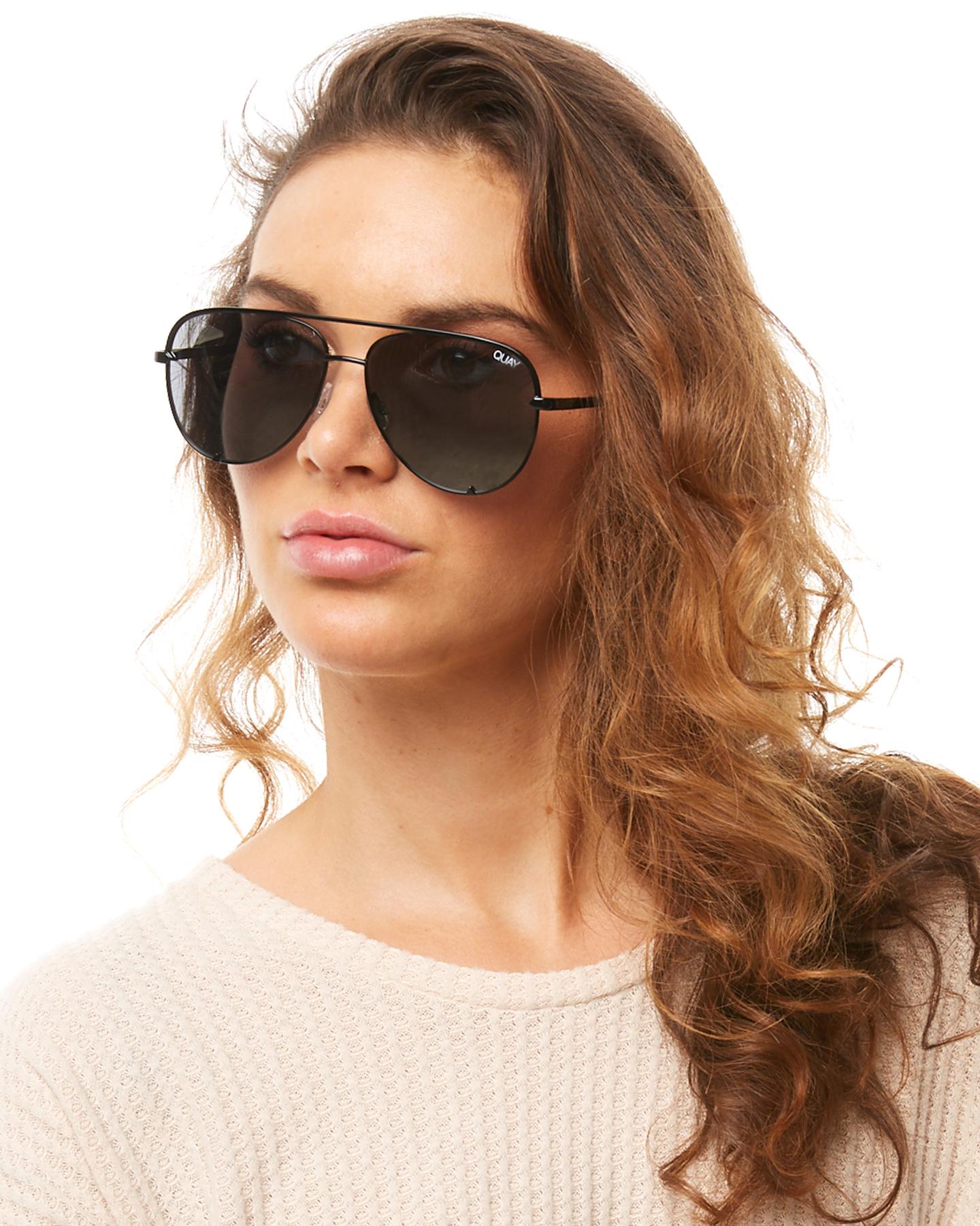 93d3534f354 New Quay Eyewear Women s High Key Mini Sunglasses Stainless Steel ...