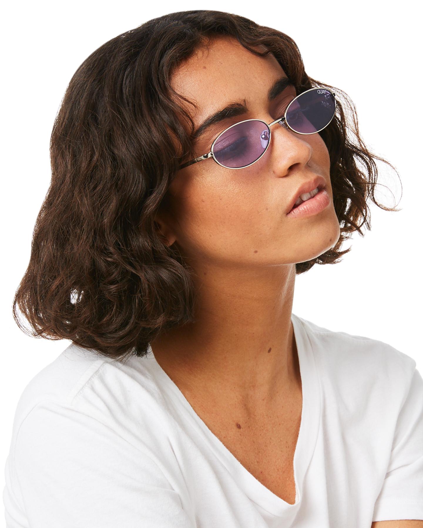 33192526c9 New Quay Eyewear Women s Clout X Alissa Violet Sunglasses Silver