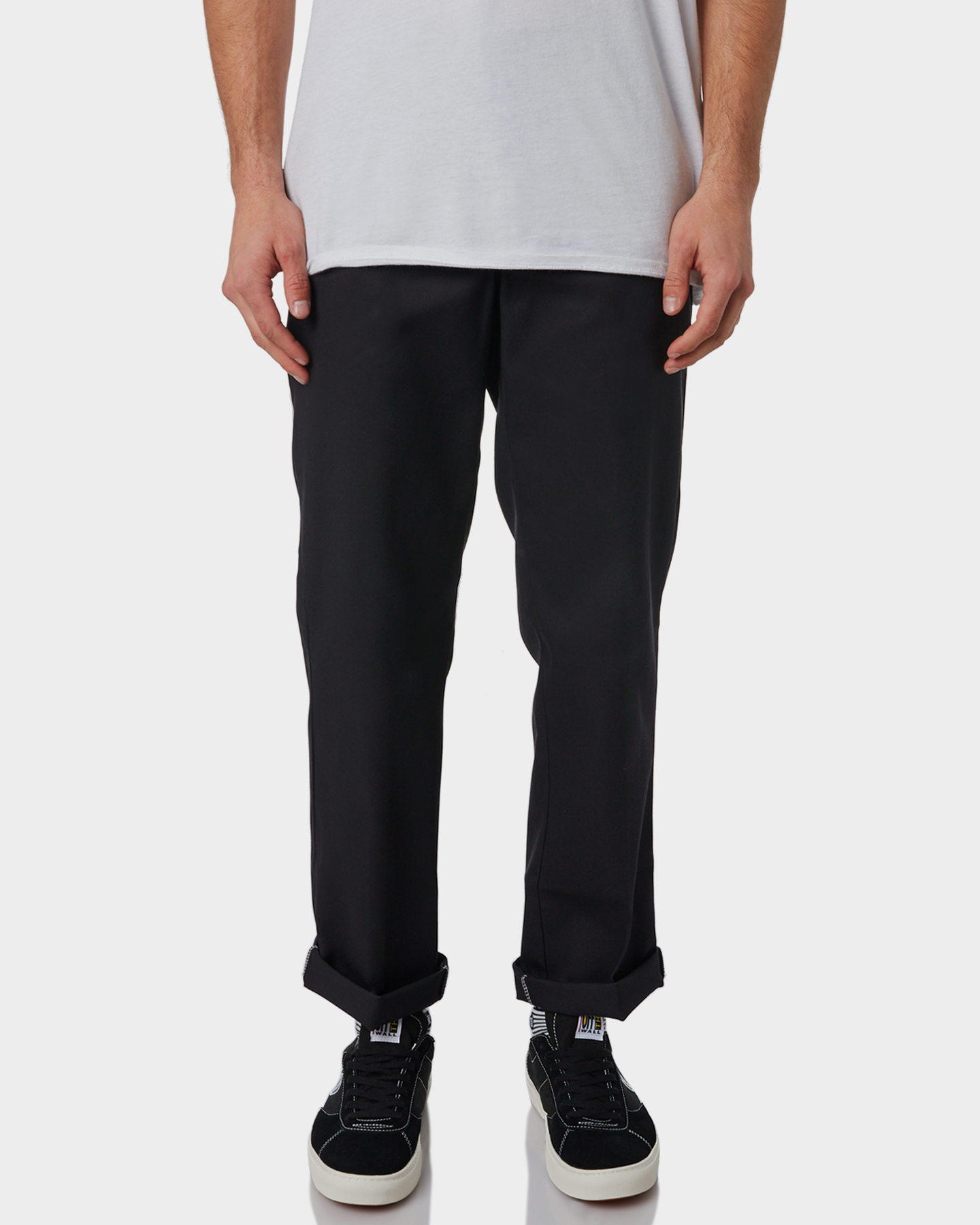 Dickies Black Polyester Cotton Original Fit Straight Mens Work Pant