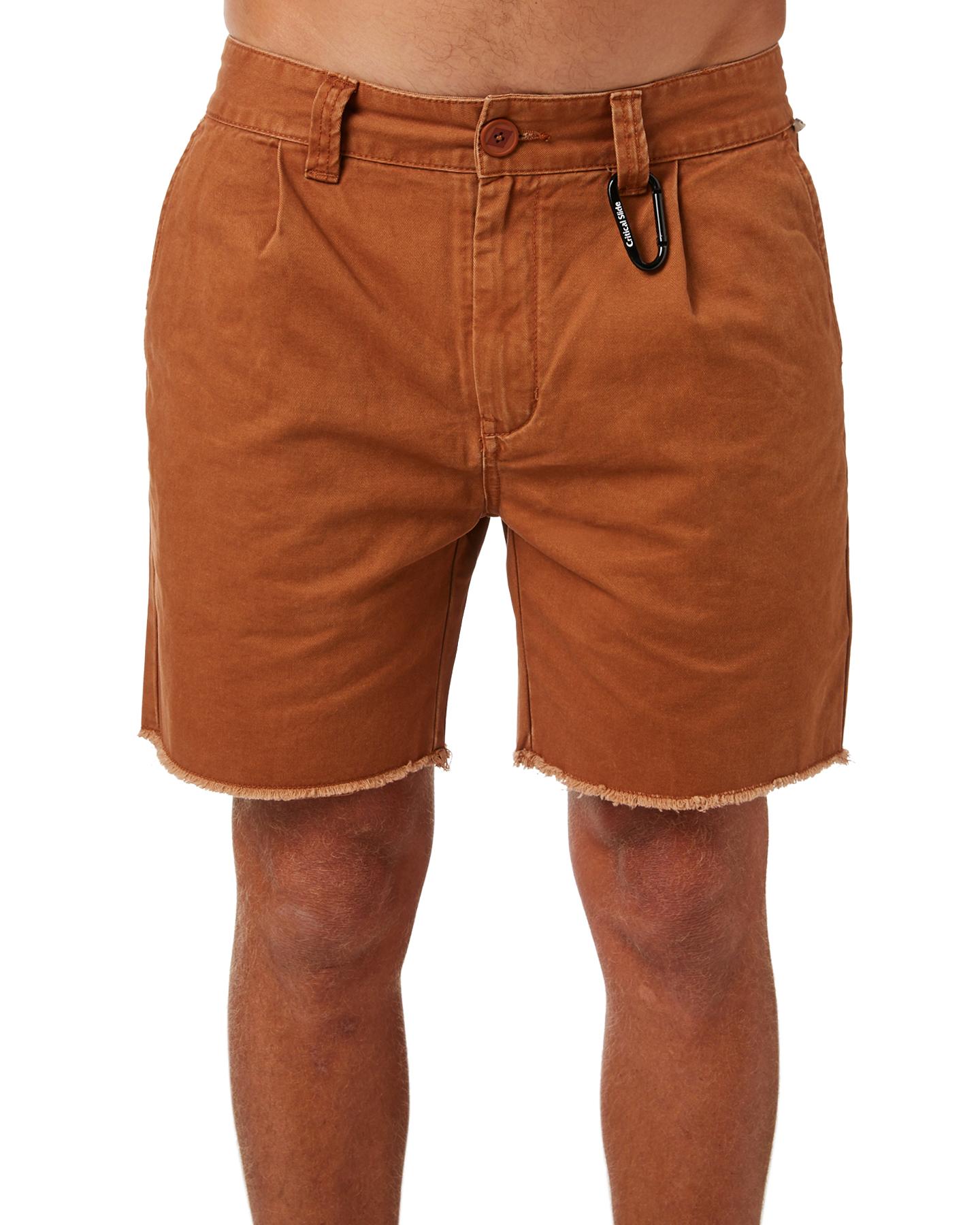New-The-Critical-Slide-Society-Men-039-s-Beachnik-Mens-Short-Cotton-Fitted-Black