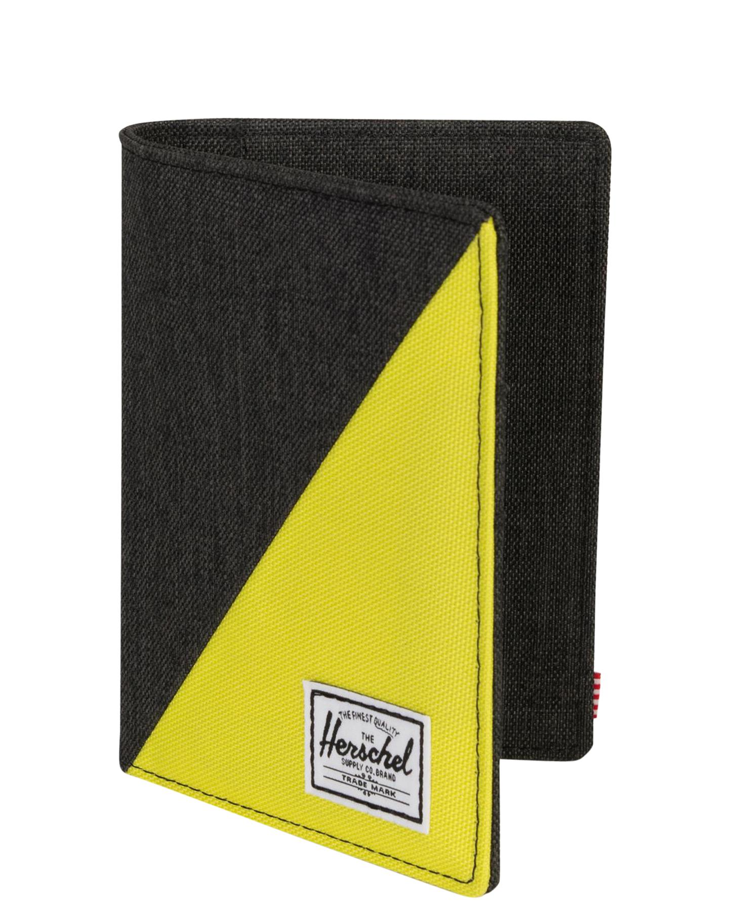 New Herschel Supply Co Men s Raynor Passport Holder Rfid Black ... 9434eb1f83684