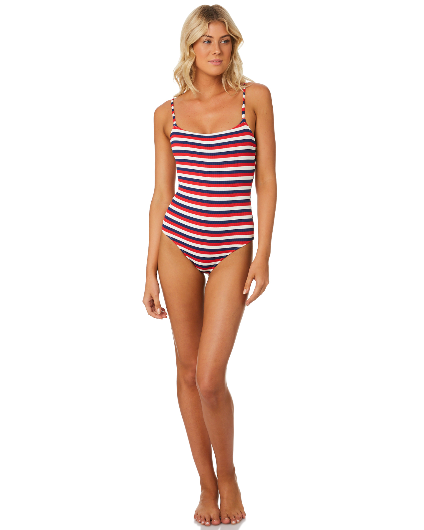 3e7ca48394 New Solid And Striped Women s The Nina Rib One Piece Polyamide Polyester  Glass