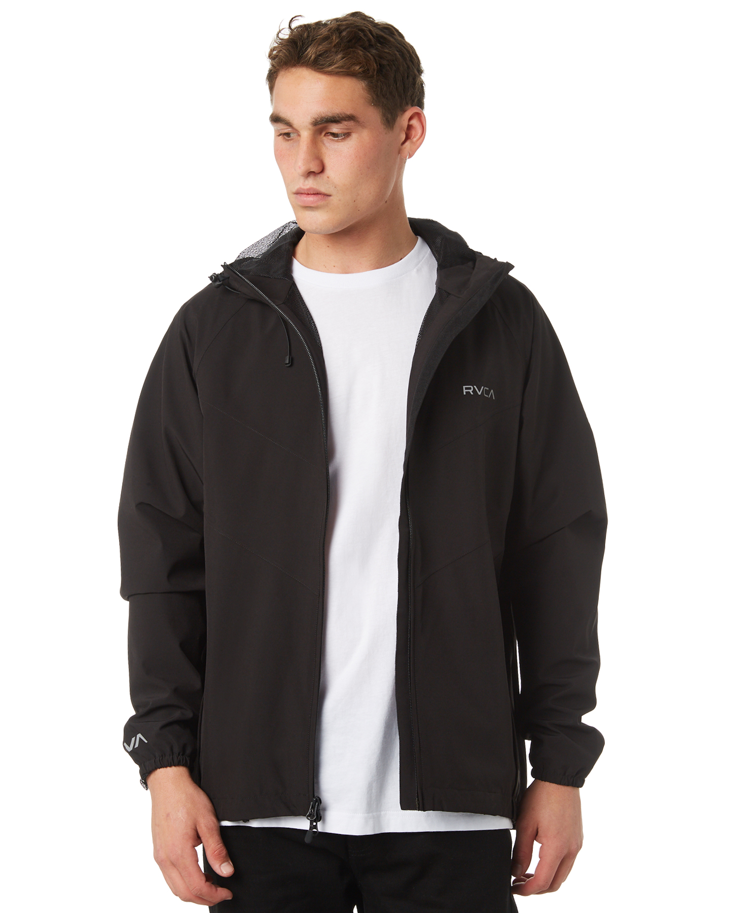 cdbf6acfc Details about New Rvca Men's Va Mens Windbreaker Jacket Mesh Elastane