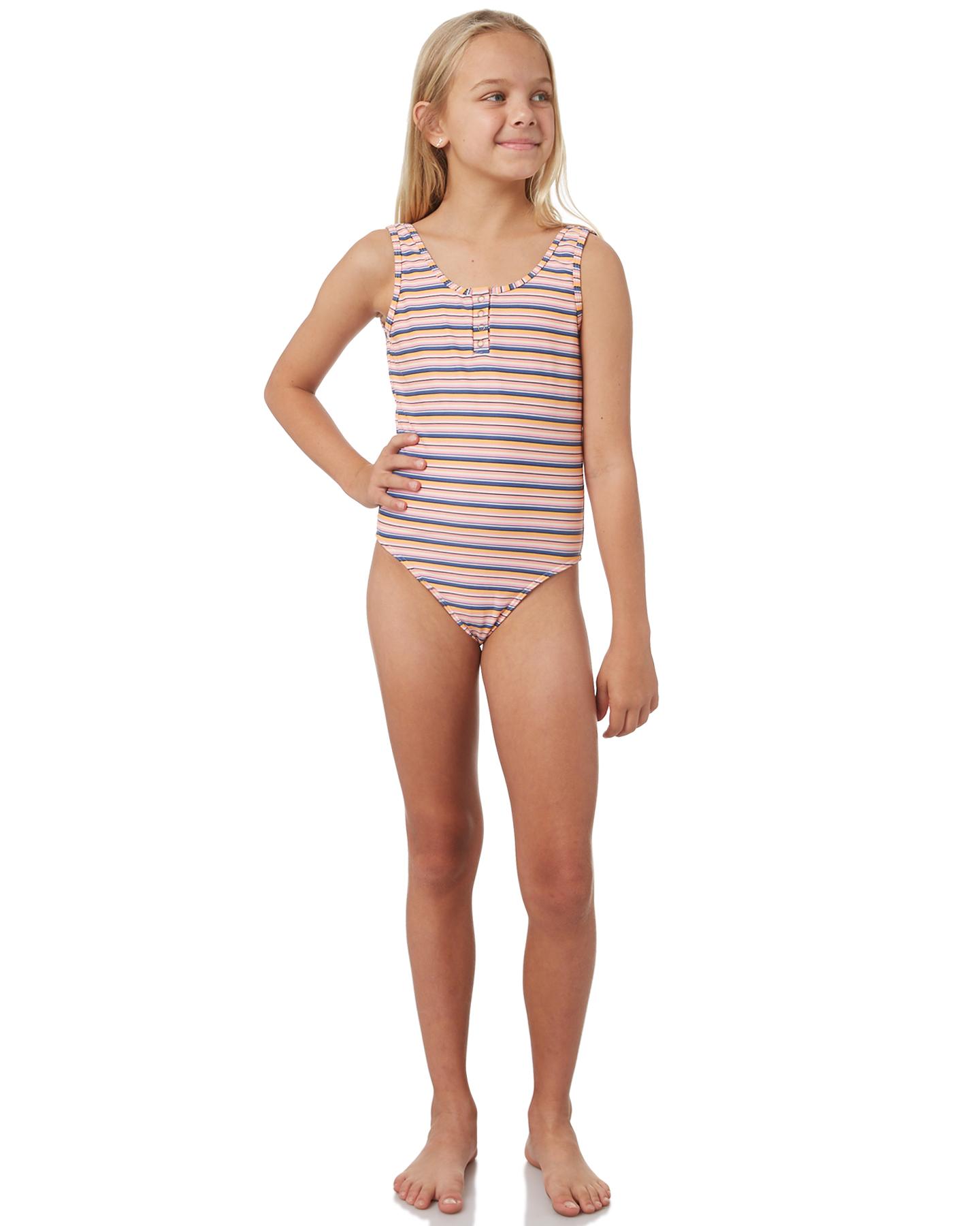 d6abf3ac5d47f Billabong Girls Girls Trippin Stripe One Piece - Teens Polyester Spandex  Orange