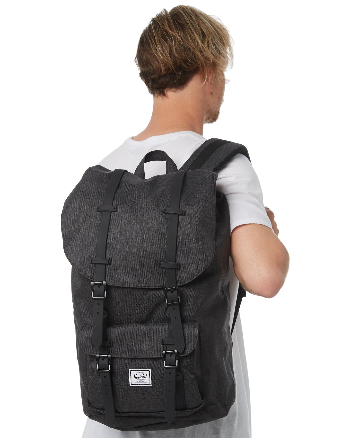 Herschel Supply Co Men s Little America 25L Backpack Mesh Black ... a4538b4e1ad20
