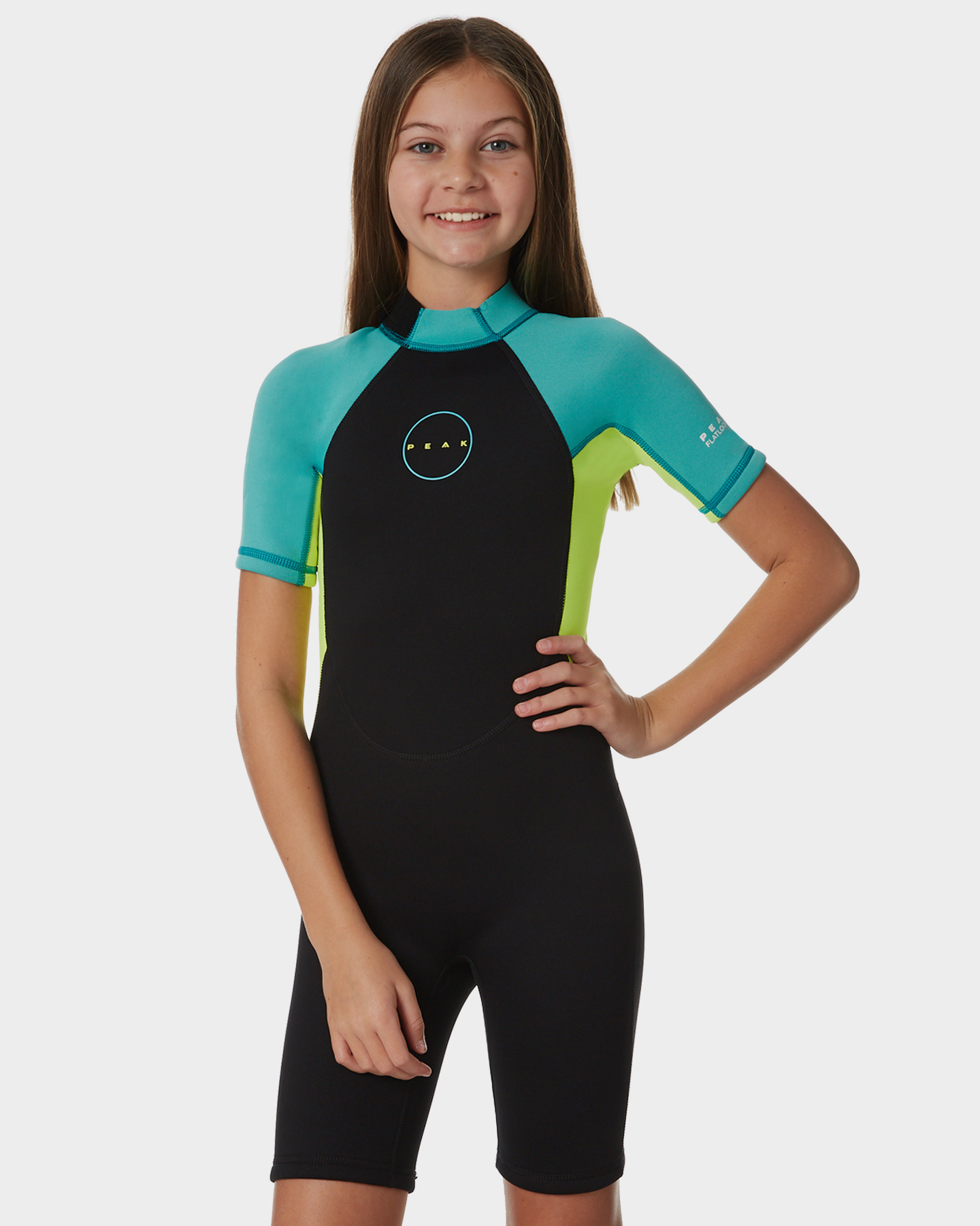 Girls Energy Ss Spring Suit Turquoise Turquoise