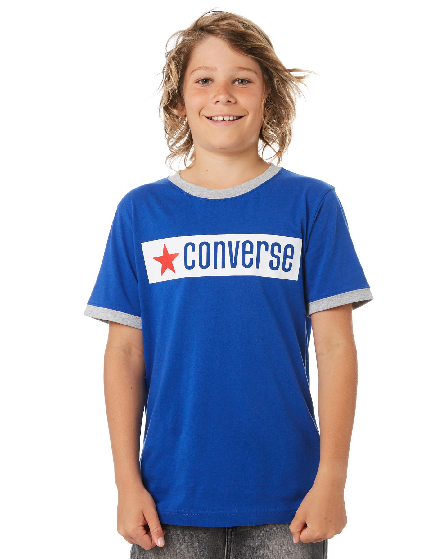 Converse Kids Boys All Star Vintage Logo Ringer Tee Converse