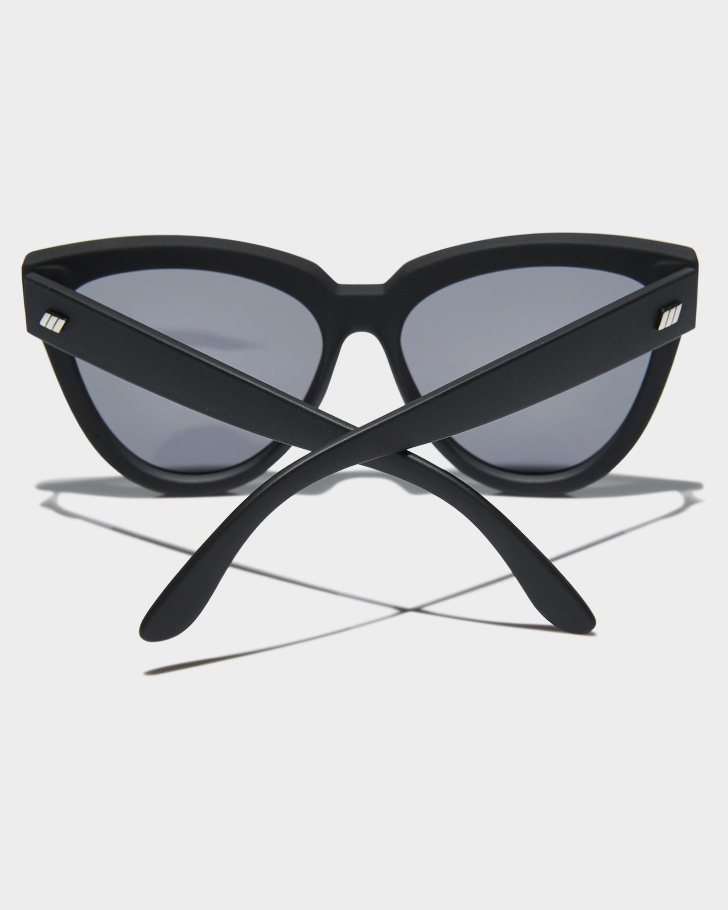 5069cb97a3 Le Specs Women s Liar Liar Polarized Sunglasses Stainless Steel Glass Black