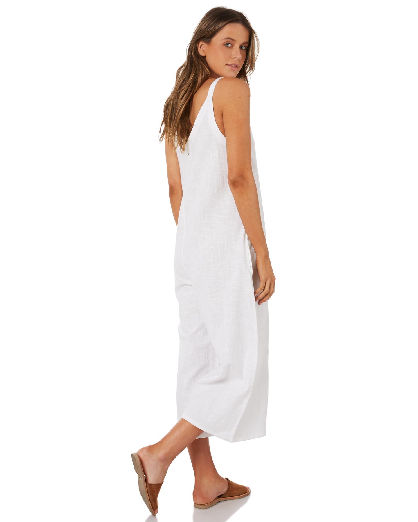 75c8de05f0be New Billabong Women s Wind Chaser Jumpsuit Cotton White