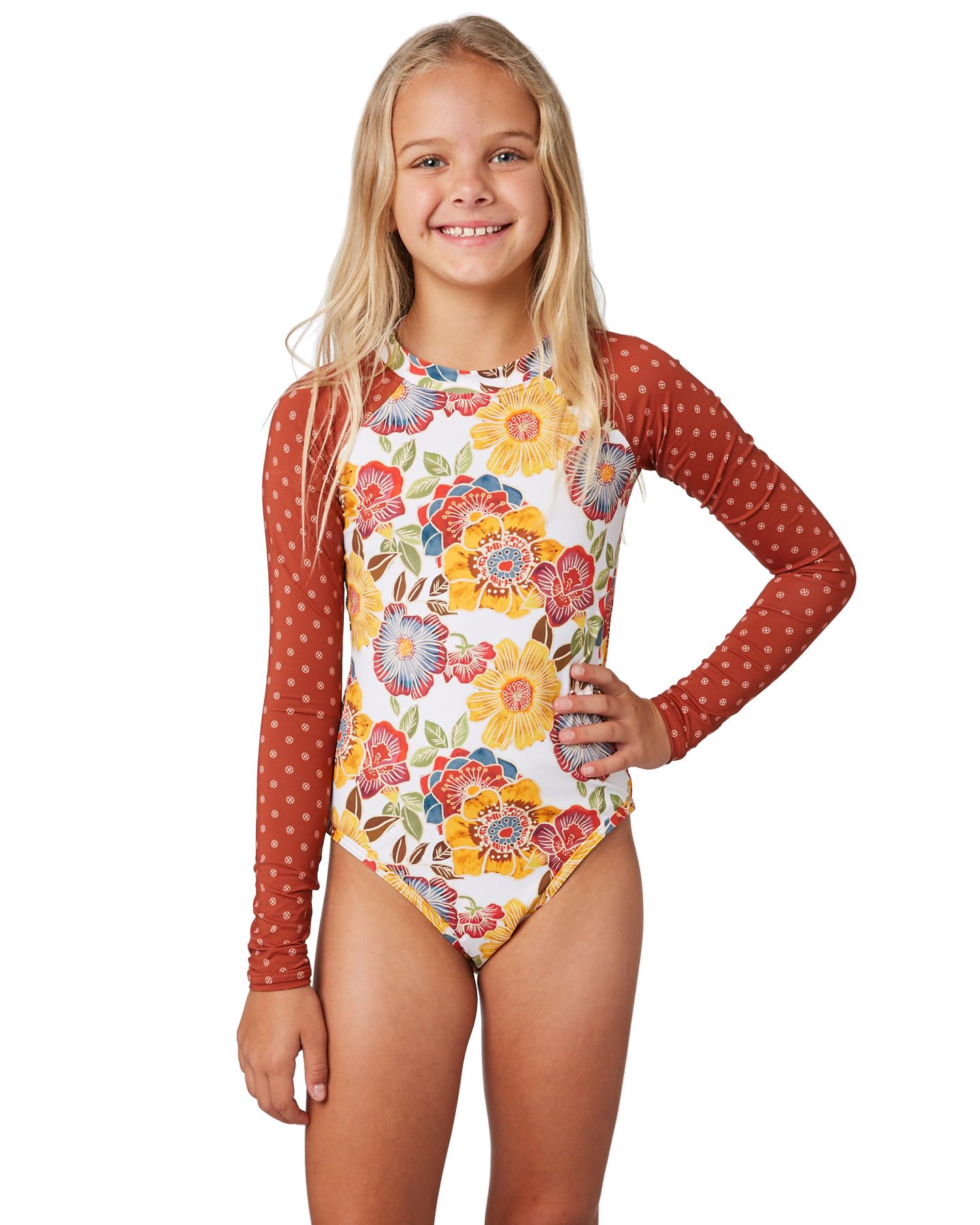 05df3b97cb744 The Hidden Way Kids Girls Stevie One Piece Henna Girls swimsuits ...