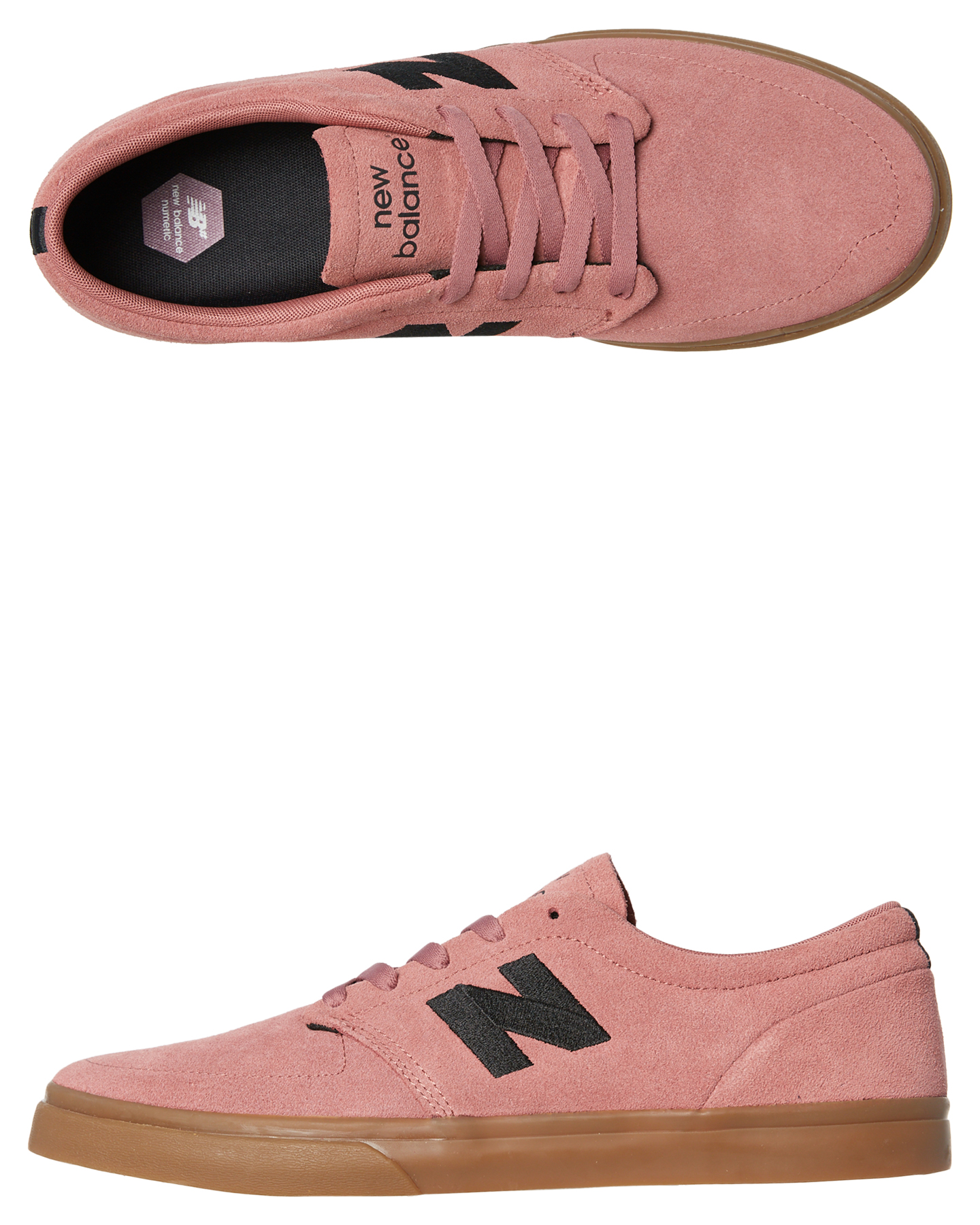 0063065043c43 Details about New New Balance Skate Men's 345 Suede Shoe Rubber Canvas Pink