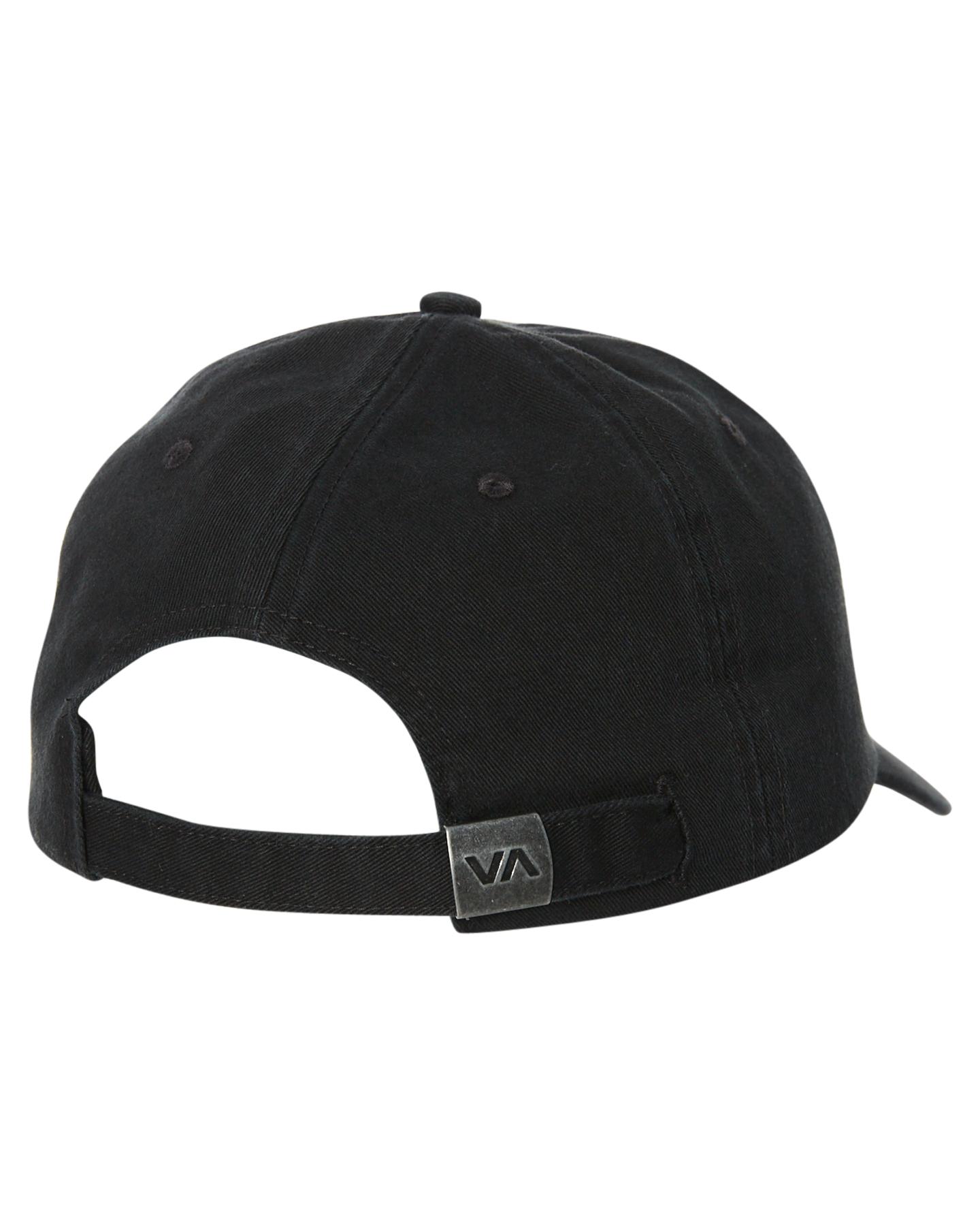 5e3e4b542d9 Rvca Men s The Focus Strapback Cap Cotton Black 9352315080262