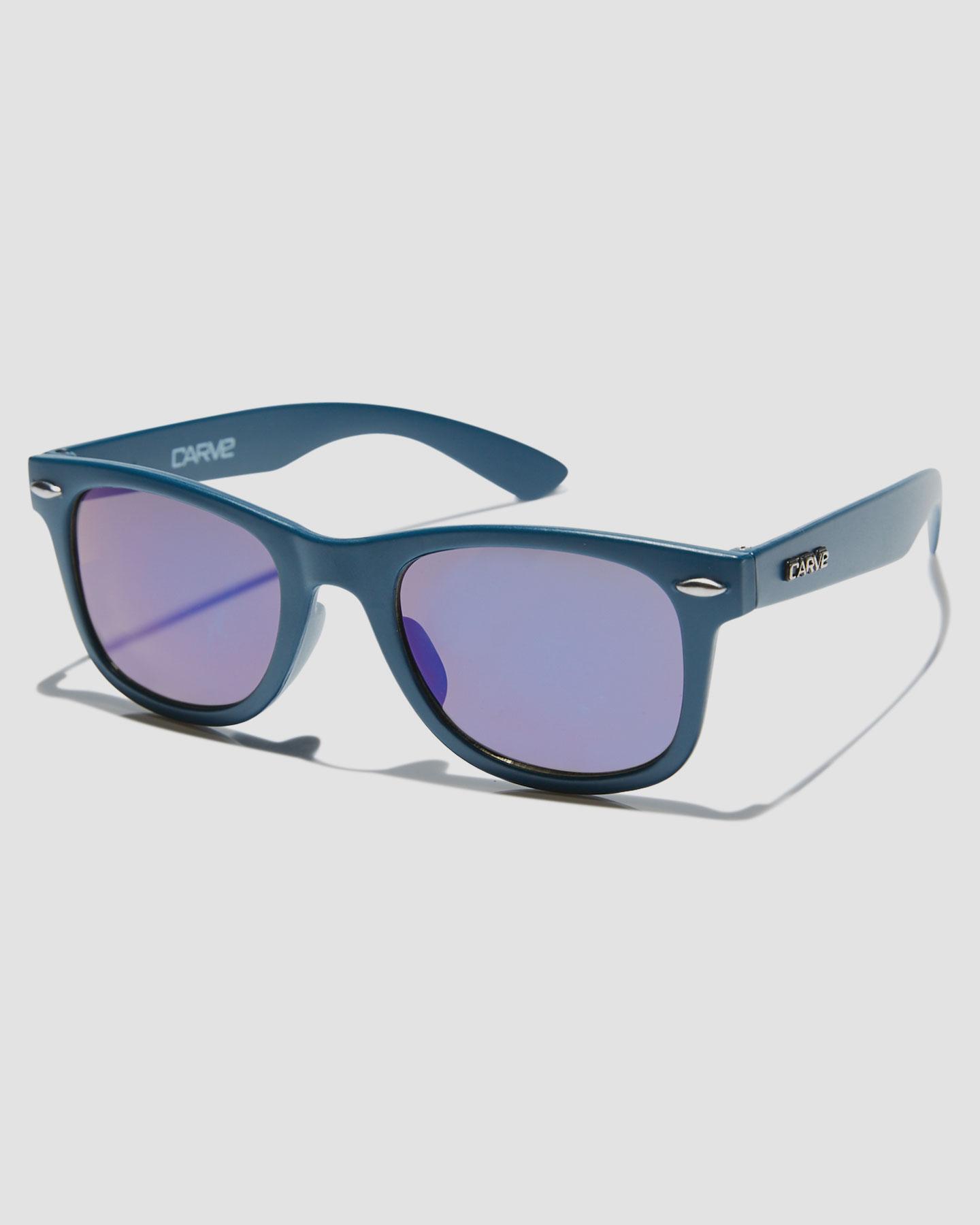 Carve Kids Digger Sunglasses Matte Navy Revo Matte Navy Revo