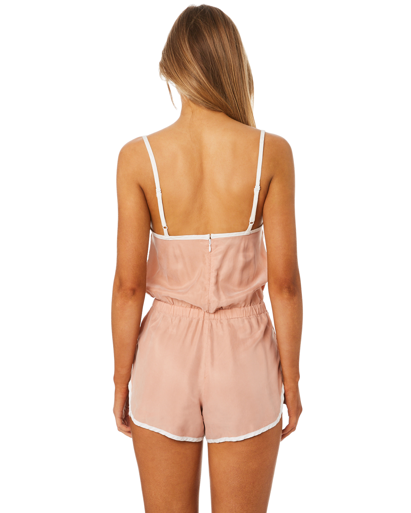 656487fd29 New Afends Women s Womens Tennis Blush Playsuit Pu Rayon Pink