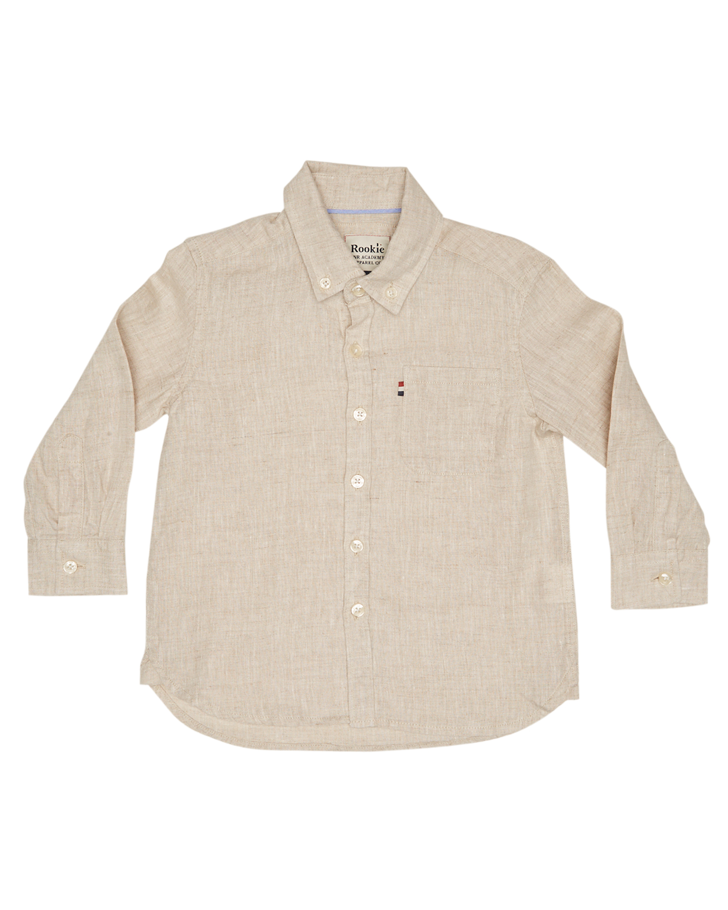 5141e73959 Details about New Rookie By The Academy Brand Boys Boys Hampton Linen Shirt  - Kids Natural