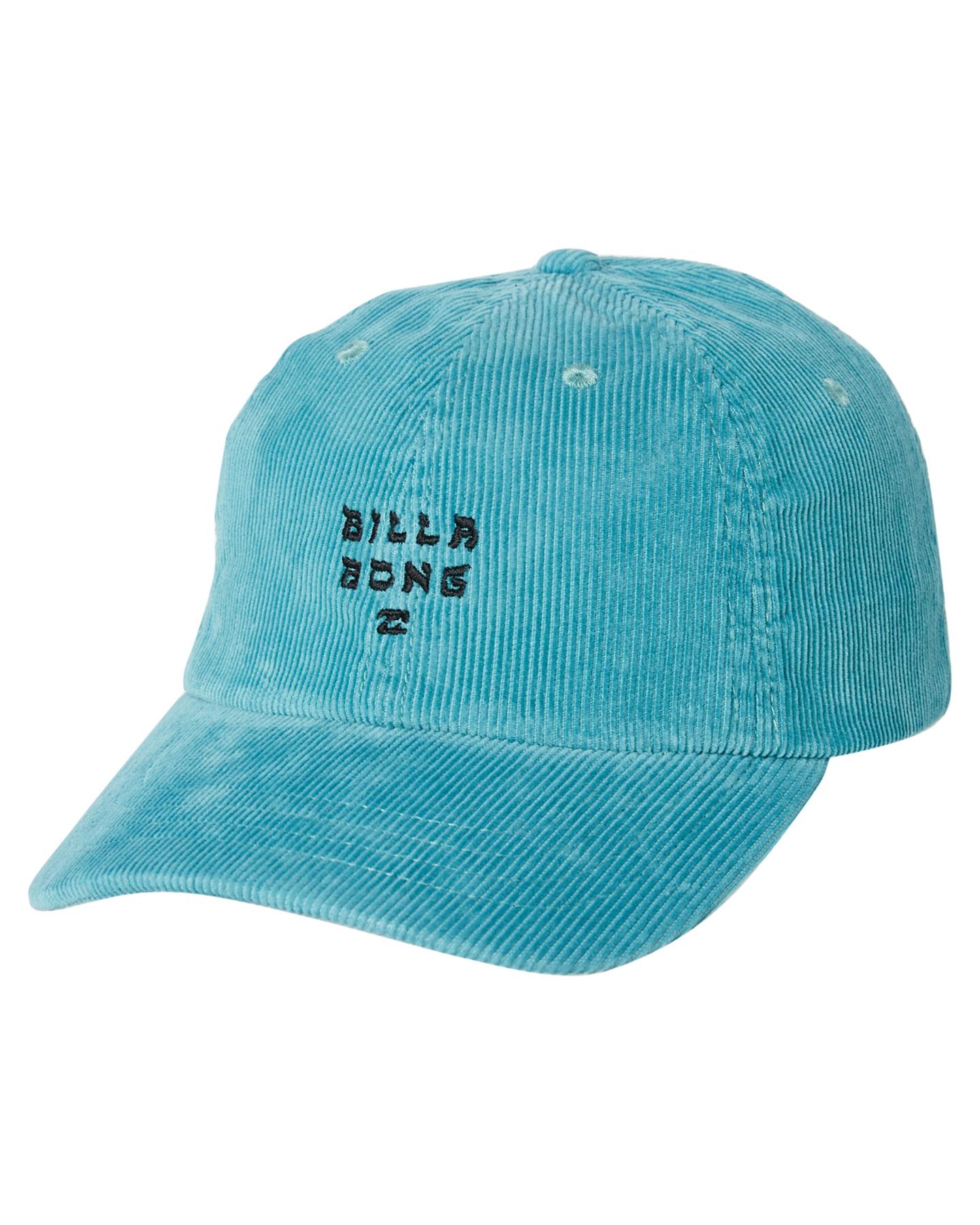 Billabong Men s Peyote Cord Lad Cap Cotton Corduroy Blue ... 6f756b06a708