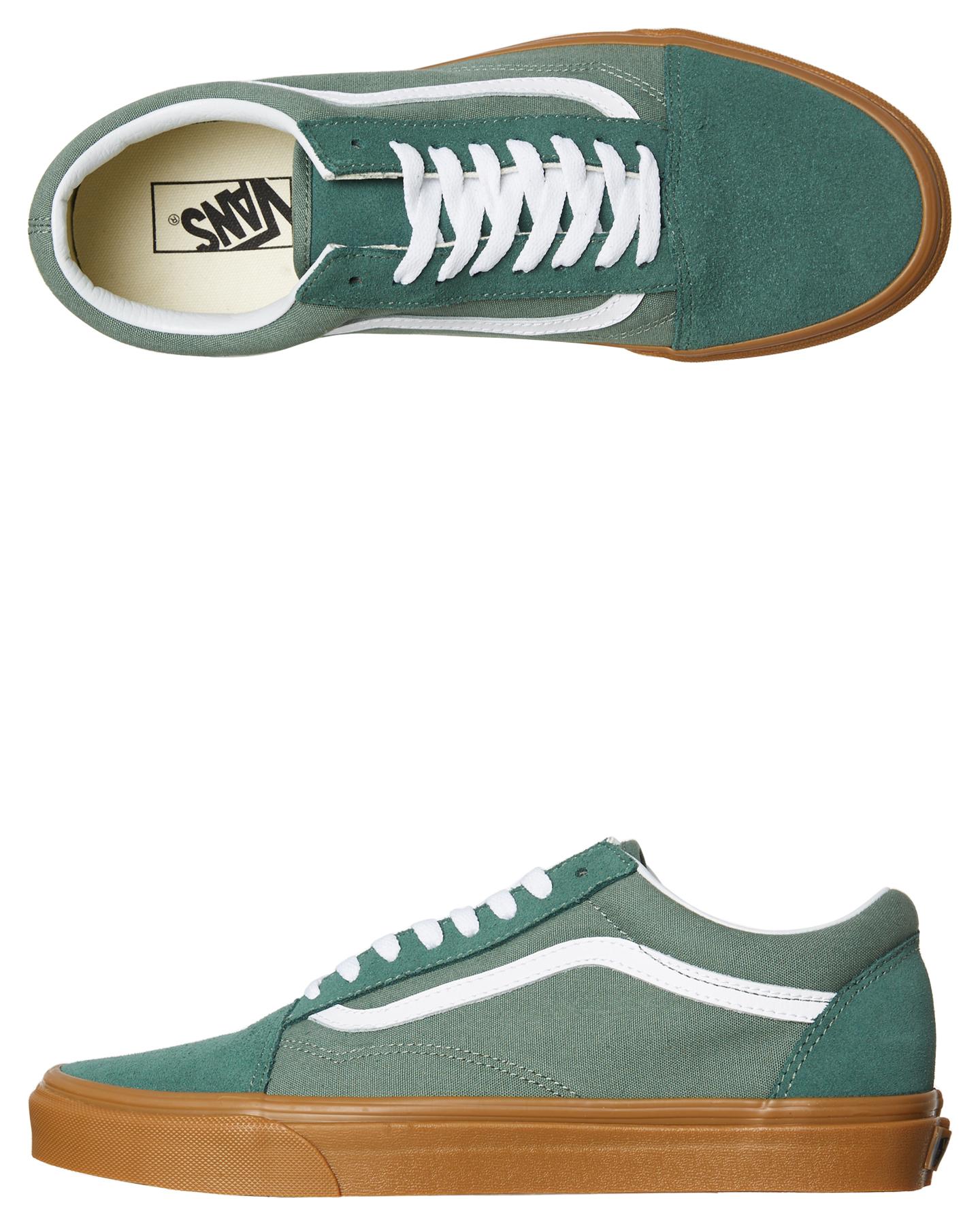 Details about New Vans Men s Old Skool Shoe Rubber Canvas Green f79bd3f69