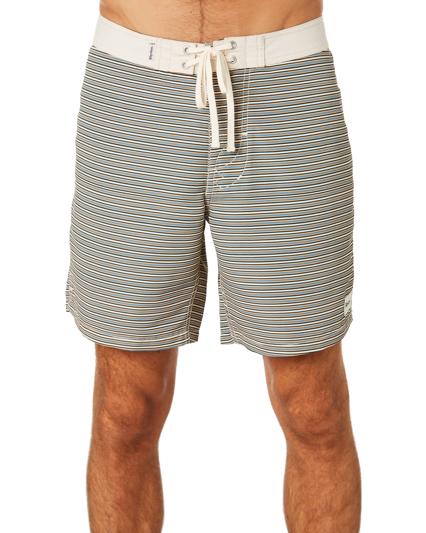 Rhythm Stripe Classic Fitted Men's Mens Boardshort About Details Black lcFJT3K1