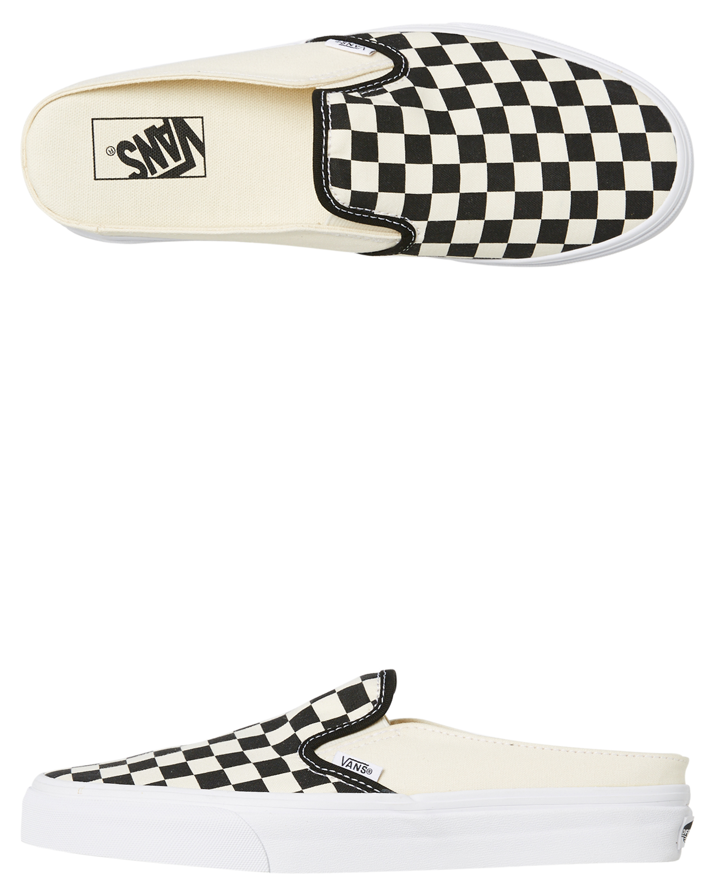 567da93b2404 Details about New Vans Women s Womens Classic Slip On Mule Checkerboard  Rubber Canvas