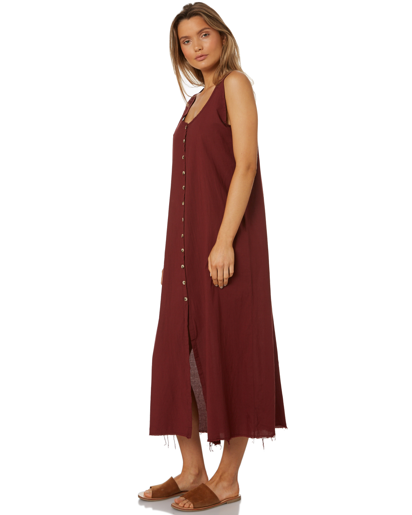 ac09b5cf4ec0 New Thrills Women's Laurel Maxi Dress Cotton Red 12 9351055137014 | eBay