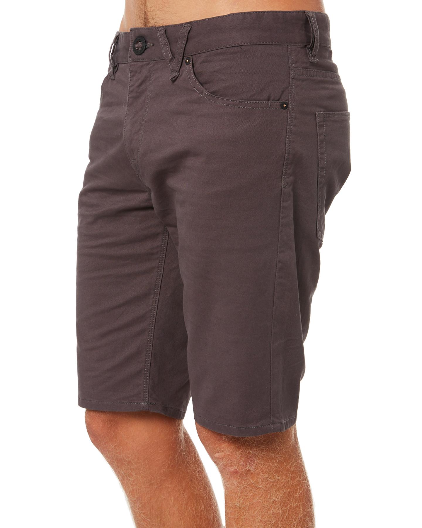 ebf1f1568c Volcom Men's Solver Lite Mens 5 Pocket Short Mens Shorts Bermudas Grey 30  Navy A0931606NVY for sale online | eBay