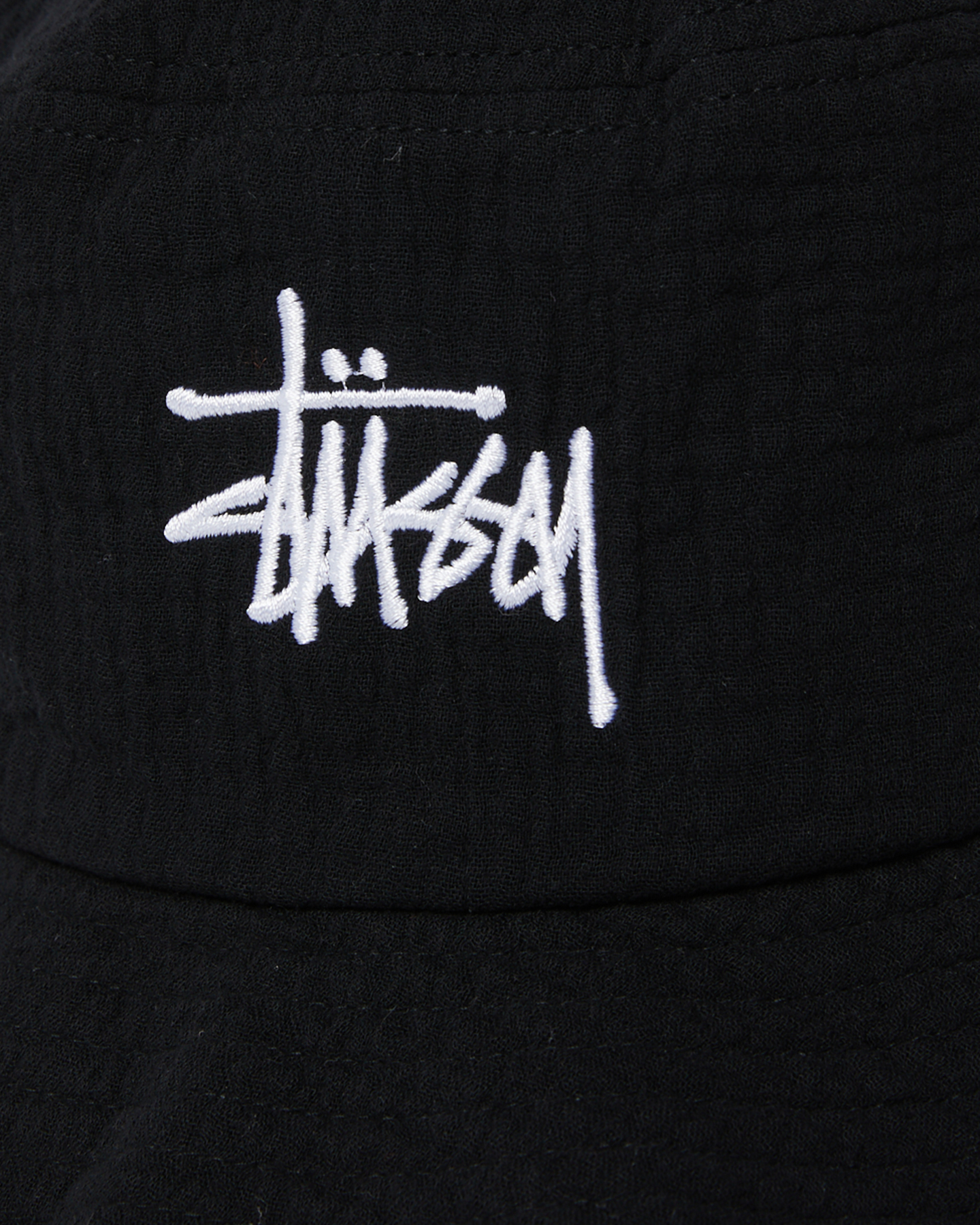 New Stussy Men s Stock Bucket Hat Cotton Soft Black  e7dc63fd1d