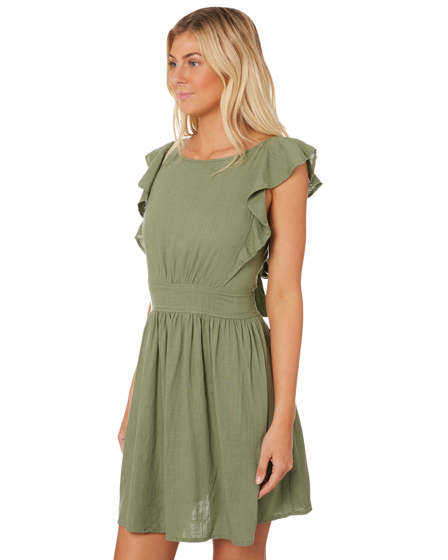5b643c8971 Sass Women s Beach Babe Dress Linen Green 9328027749964
