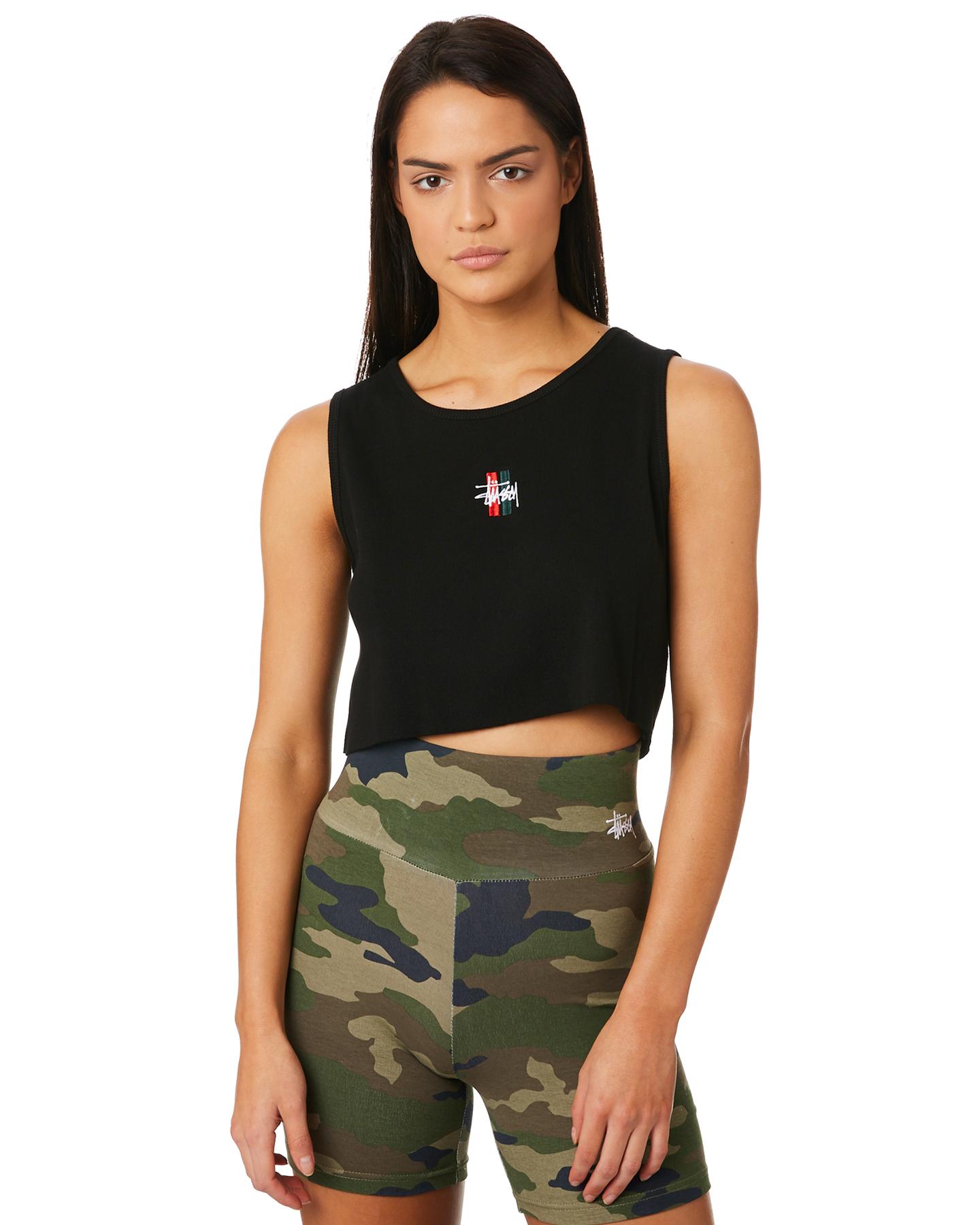 7f51f27af624f New Stussy Women s Graffiti Bar Cut Off Tank Cotton Black