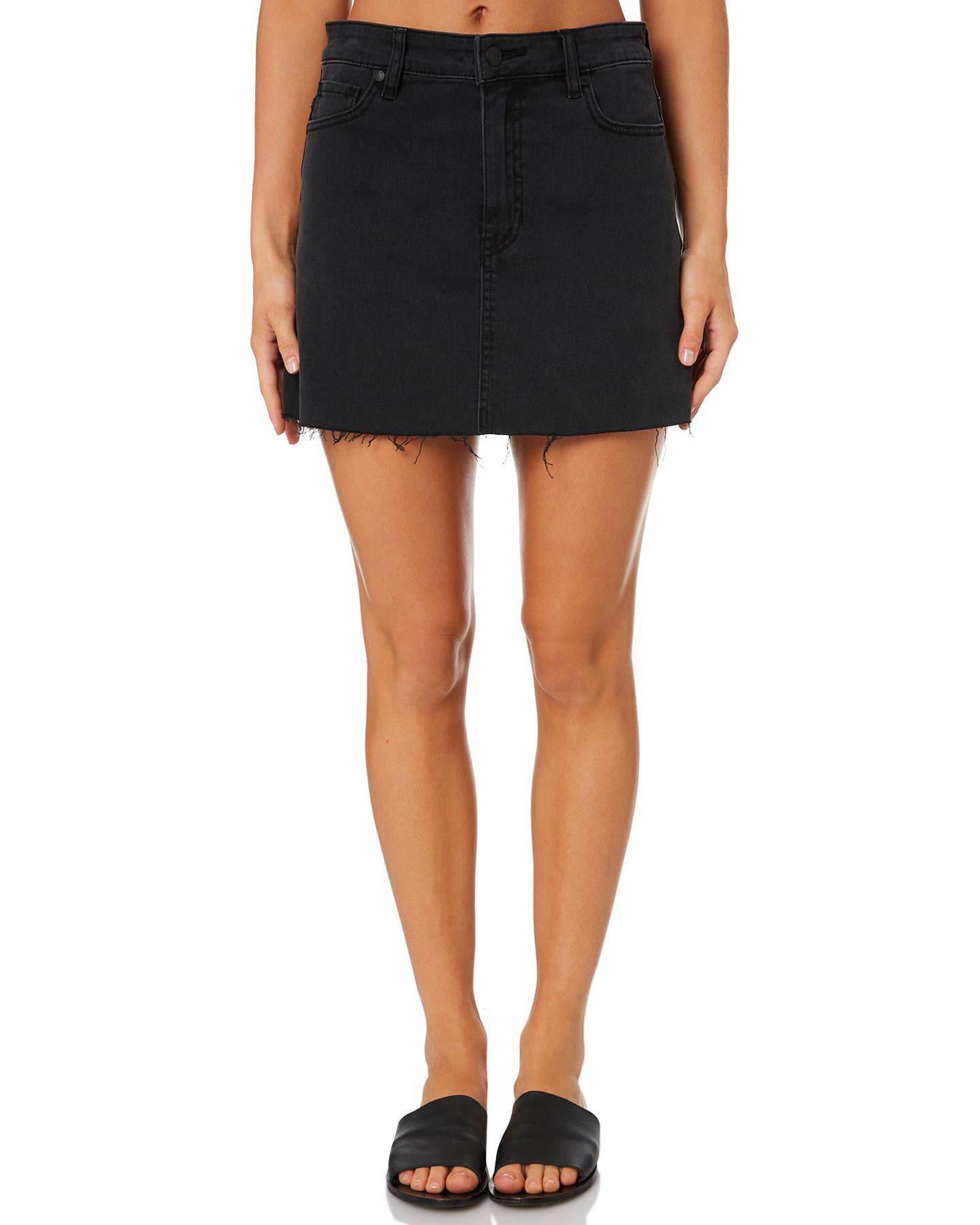 Lee Lola Womens Skirt Lunar Black
