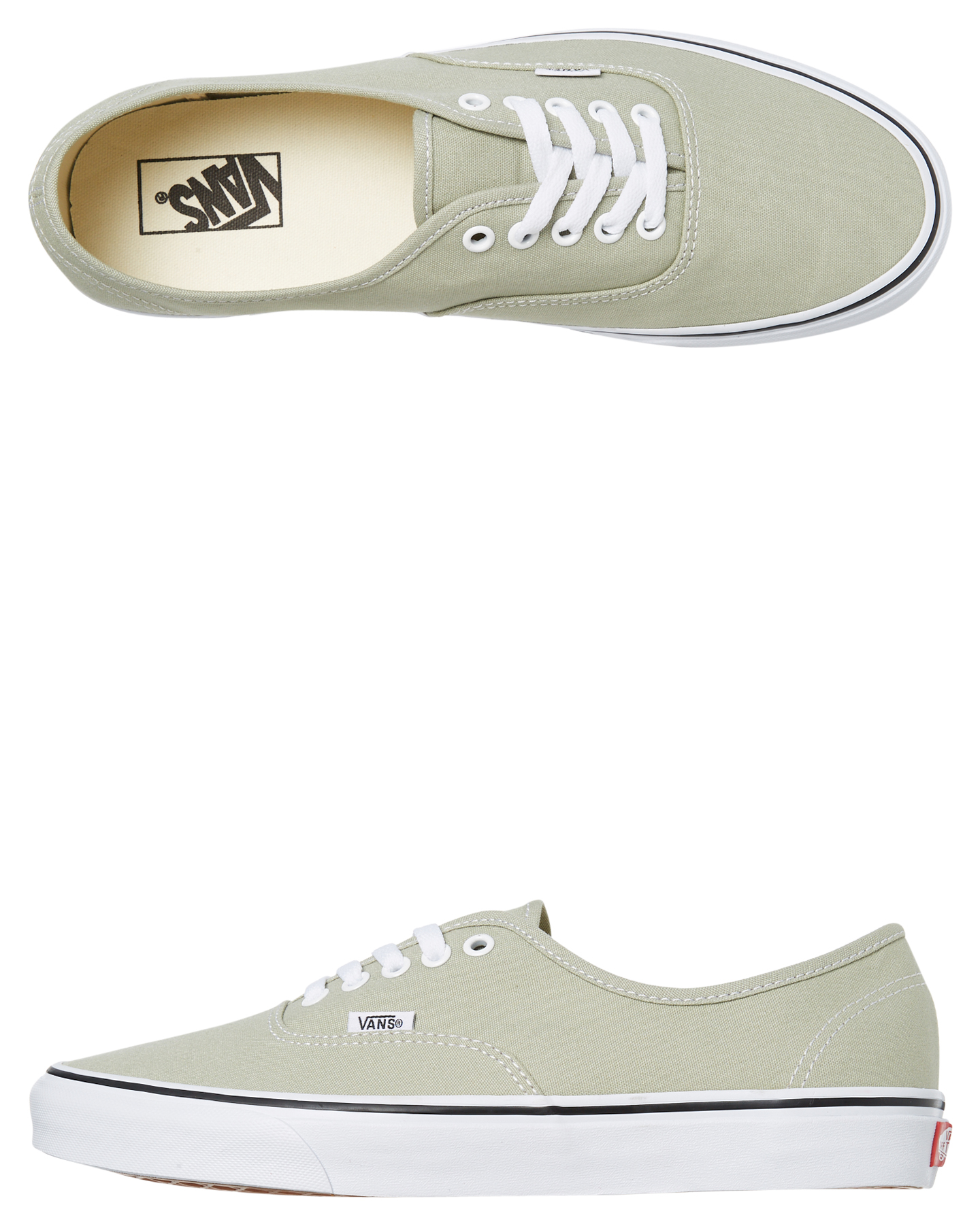 14ad36f8a06610 Details about New Vans Women s Womens Authentic Shoe Rubber Canvas Green