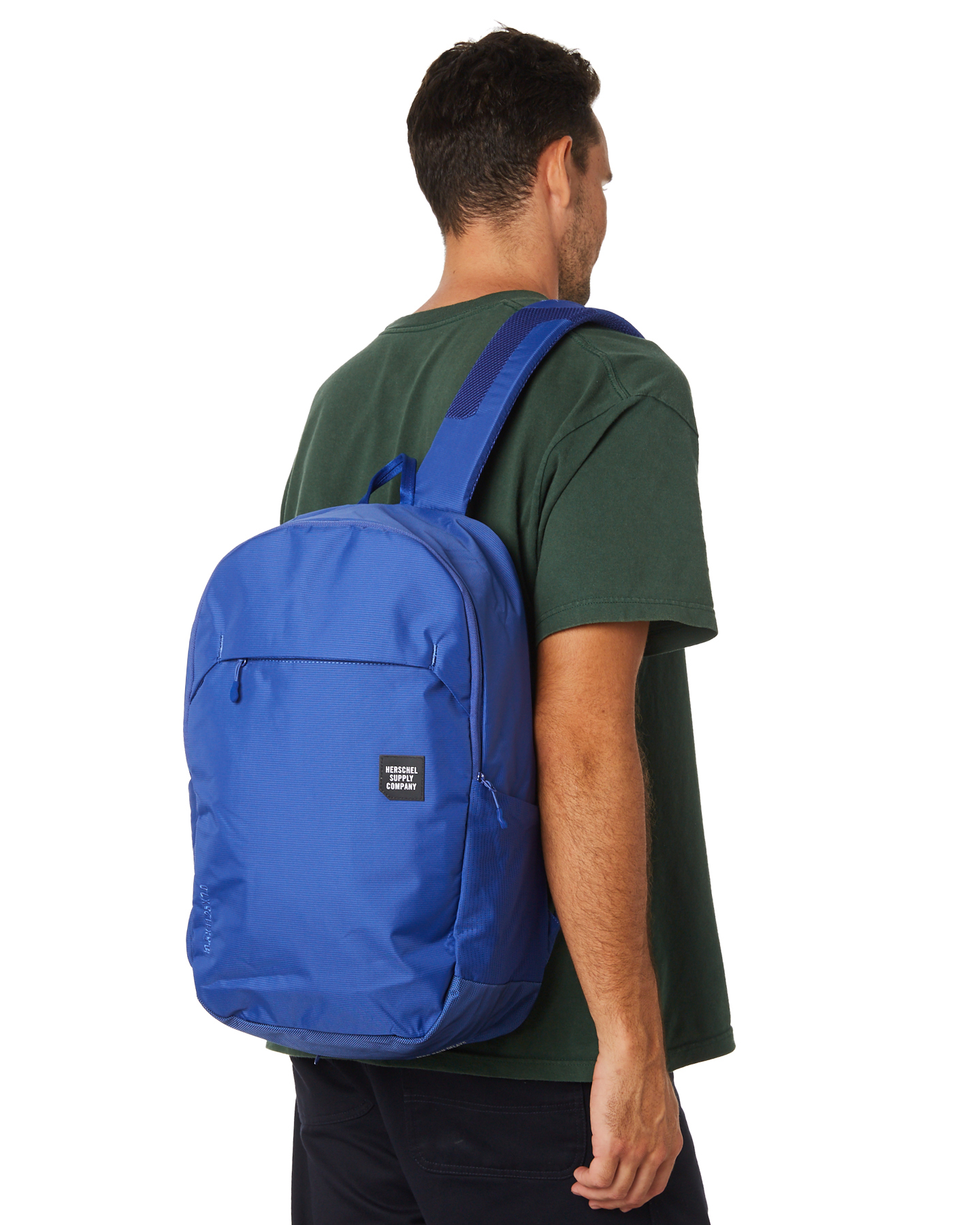 2b47a61c322 Herschel Supply Co Men s Mammoth Large Trail 23L Backpack Rubber Mesh Blue  N A