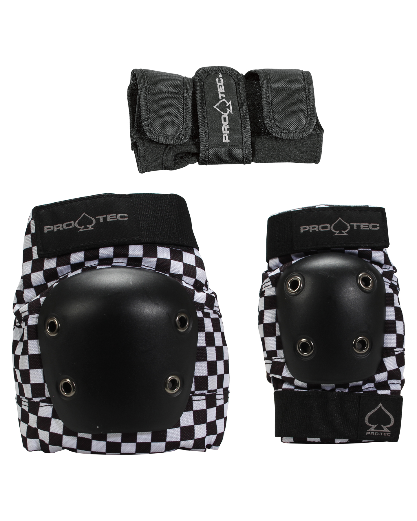 Protec Street Gear 3Pk Jnr Pads Checker
