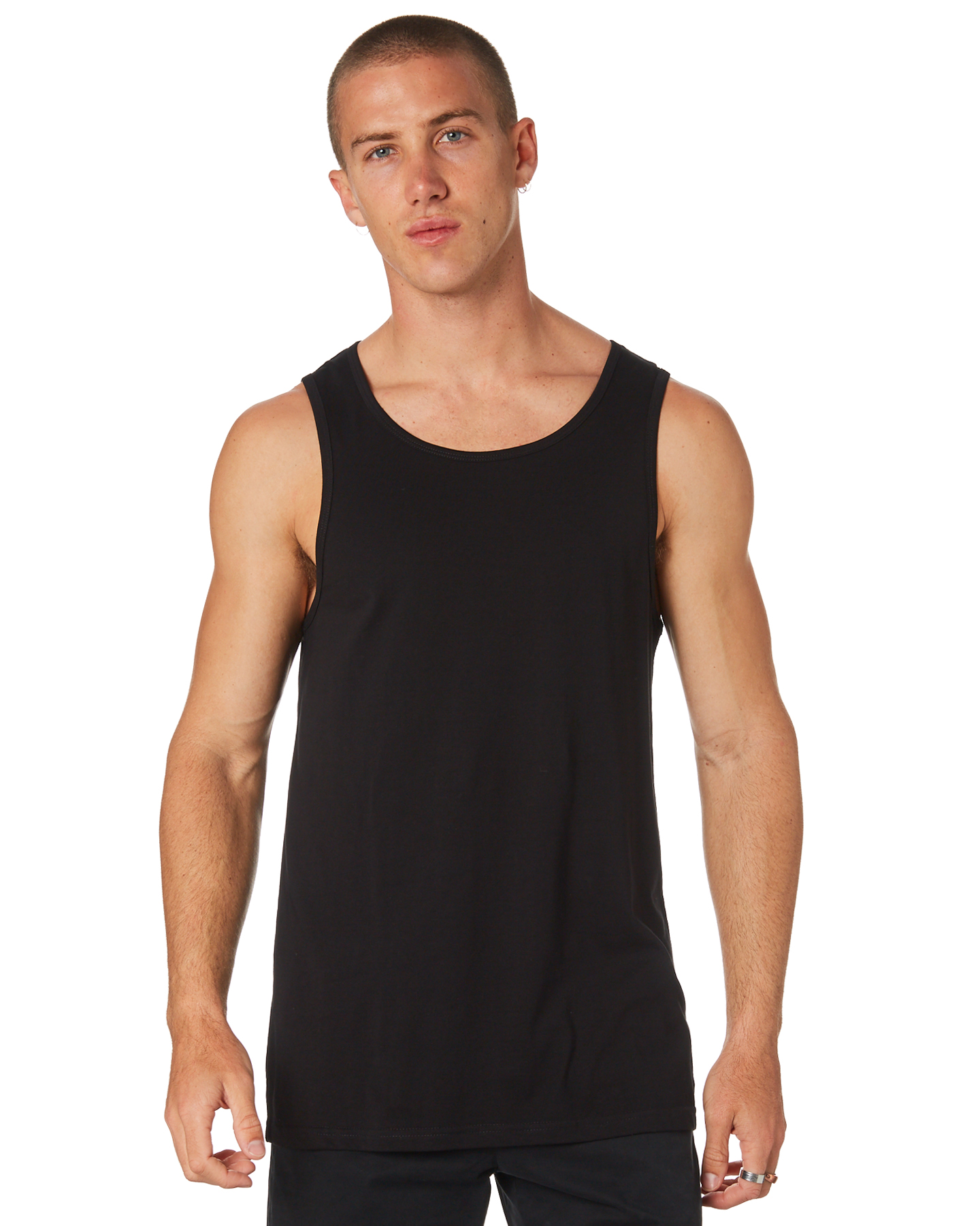 As Colour Lowdown Mens Singlet Black