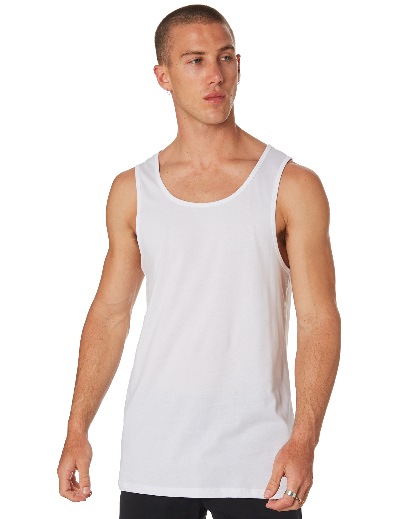 As Colour Lowdown Mens Singlet White