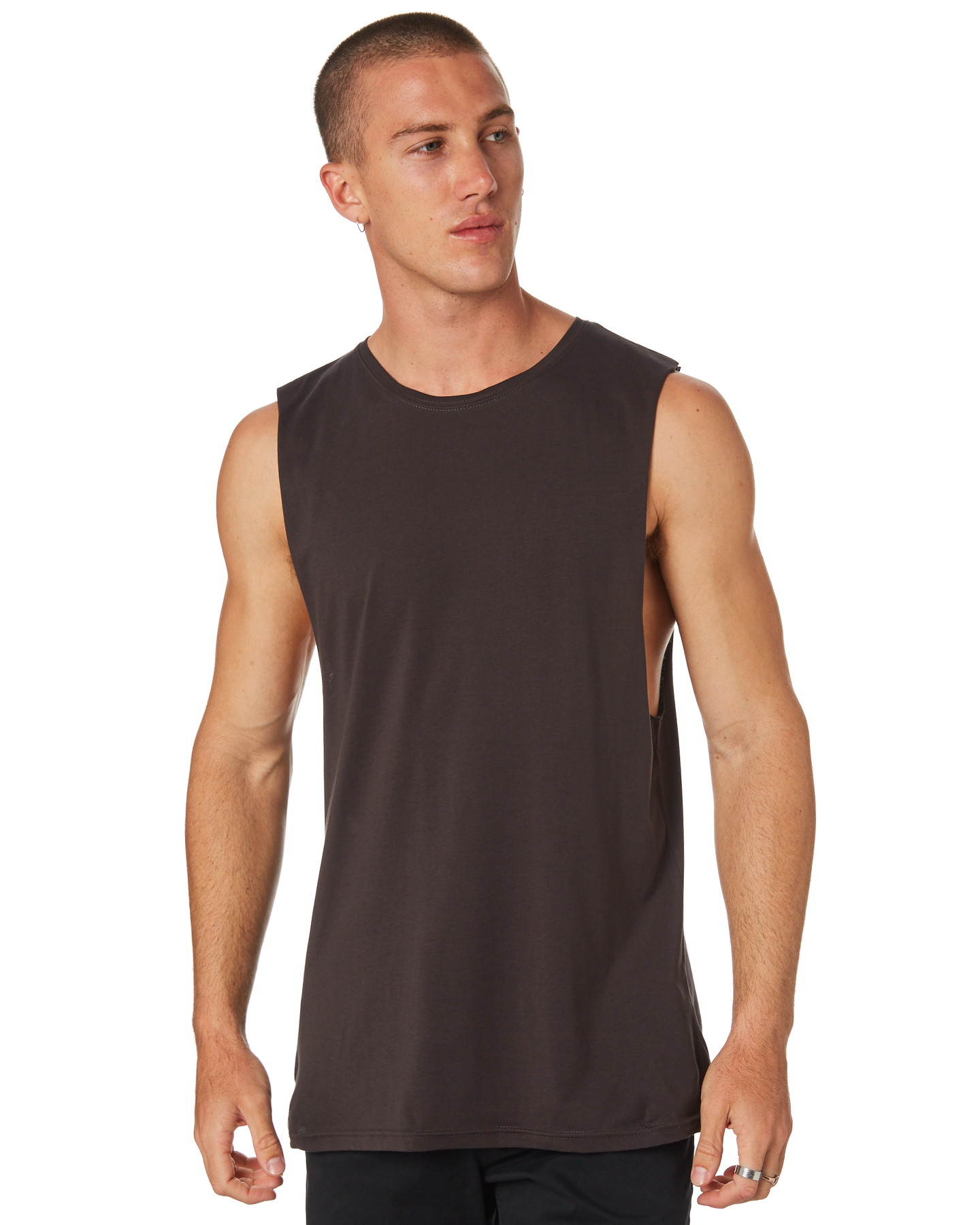 As Colour Barnard Mens Tank Coal Coal