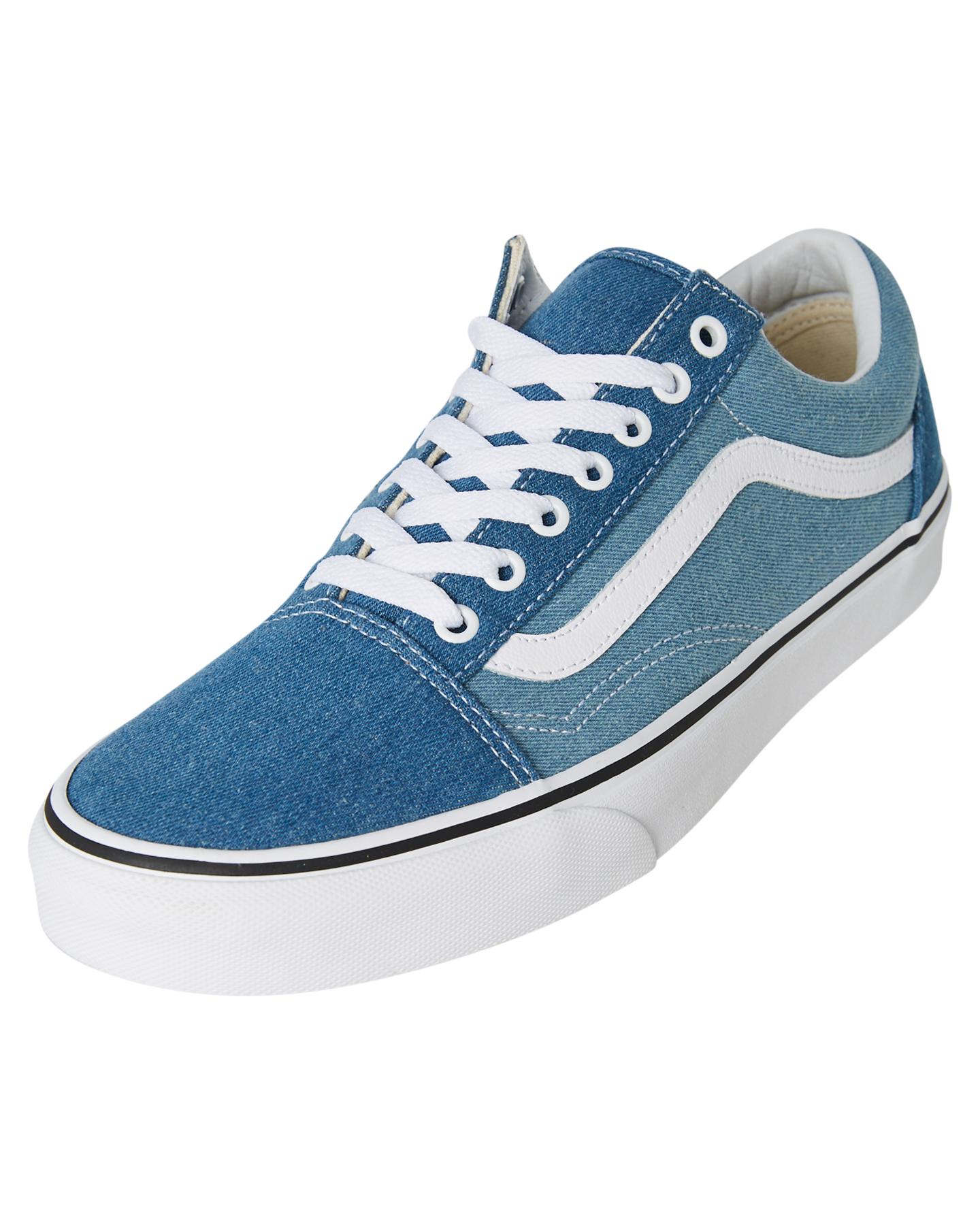 b079071624 New Vans Skate Men s Mens Old Skool Denim 2 Tone Shoe Rubber Canvas ...