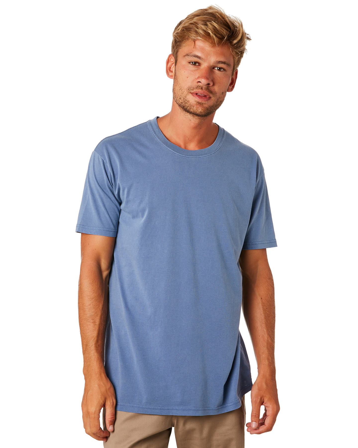 As Colour Faded Mens Tee Faded Blue