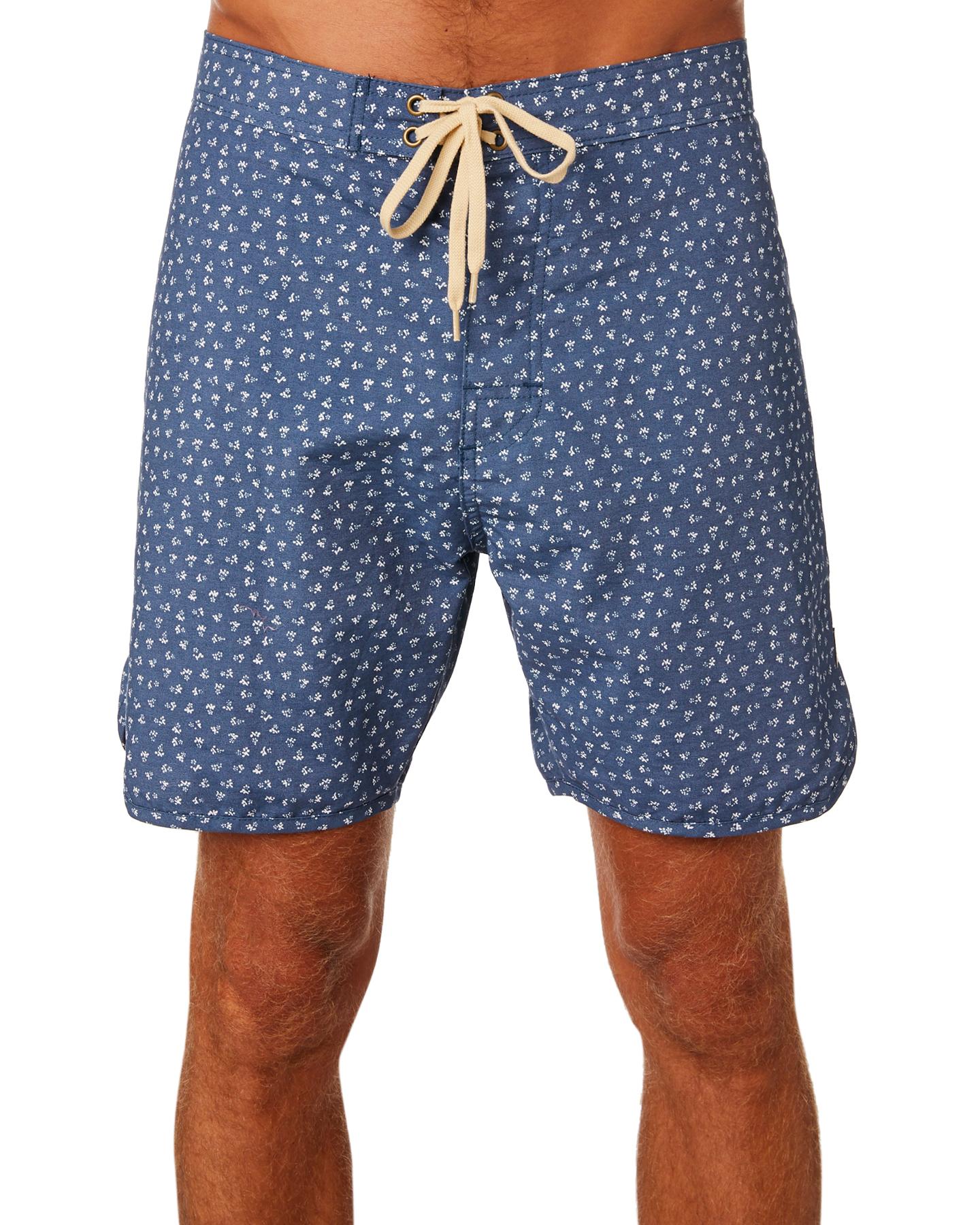 e3104e4f01 Mollusk - Mollusk Men's Scallop Mens Boardshort Cotton Fitted Blue 28