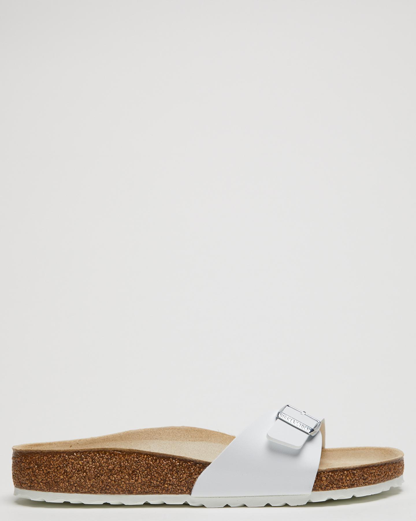 64e703ba38b69 Birkenstock Women s Womens Regular Madrid Sandal Suede Birko-Flor White